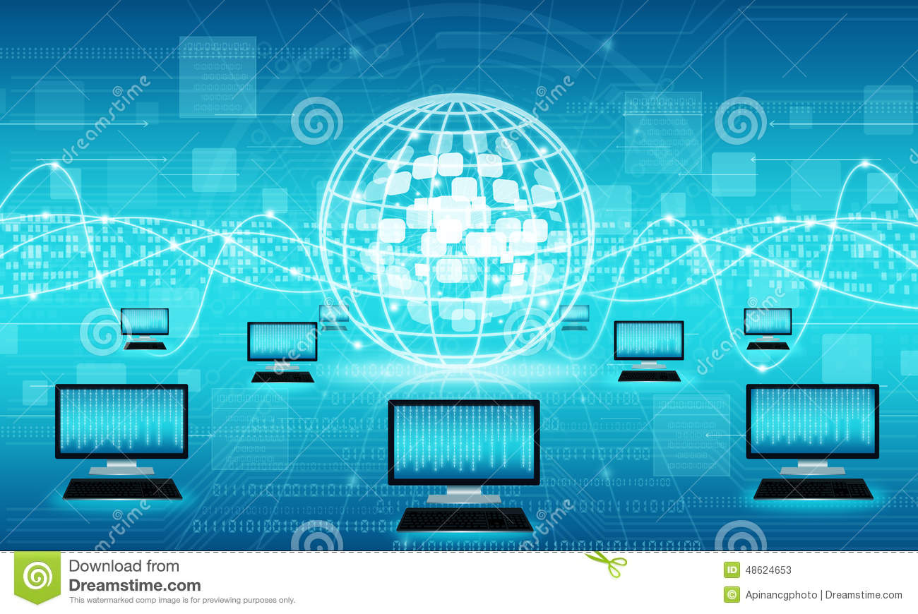 Technology Business Internet Connection Background Stock Photo Diagram 48624653 Megapixl