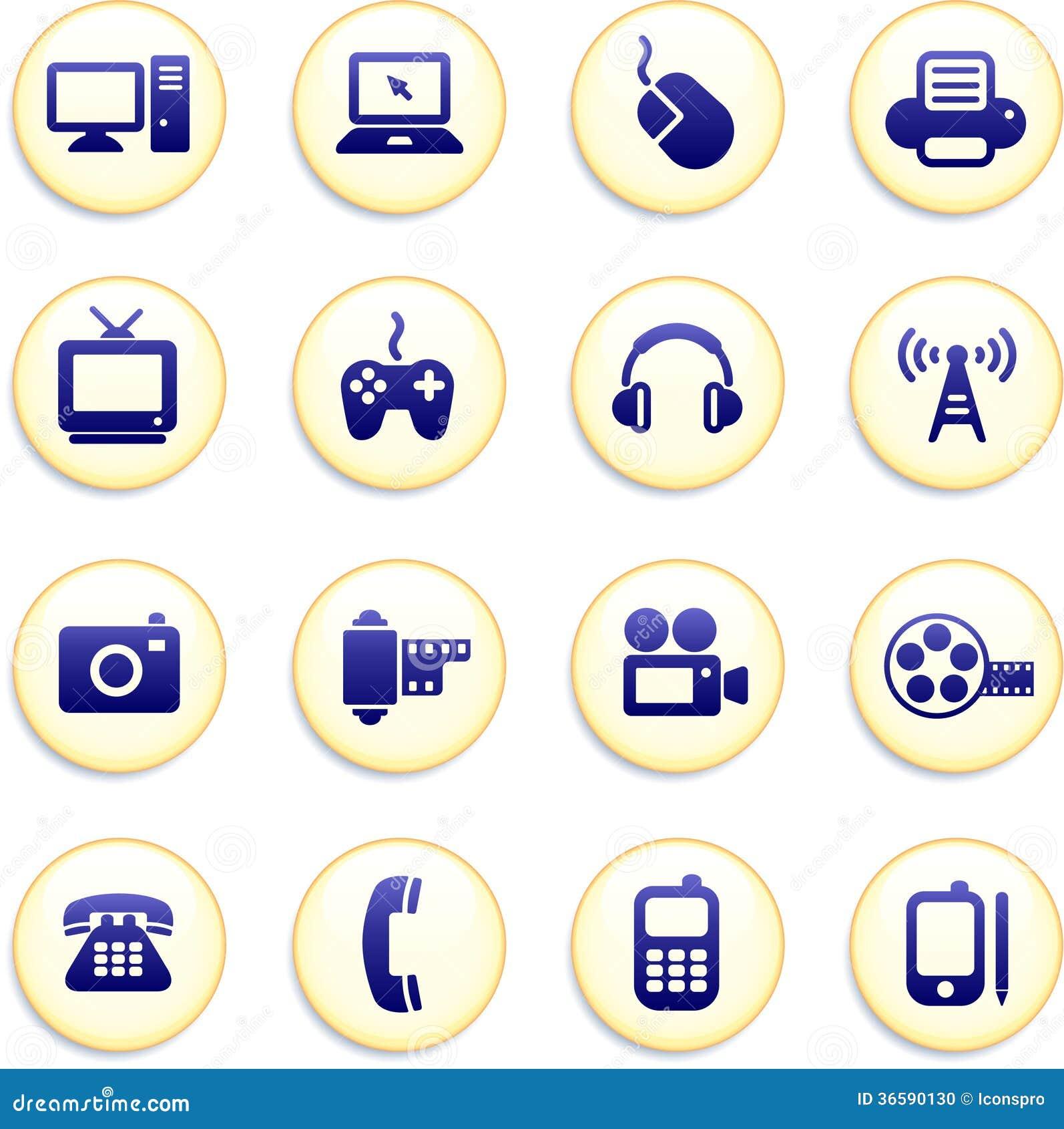 Technology Buttons Stock Illustration  Illustration Of