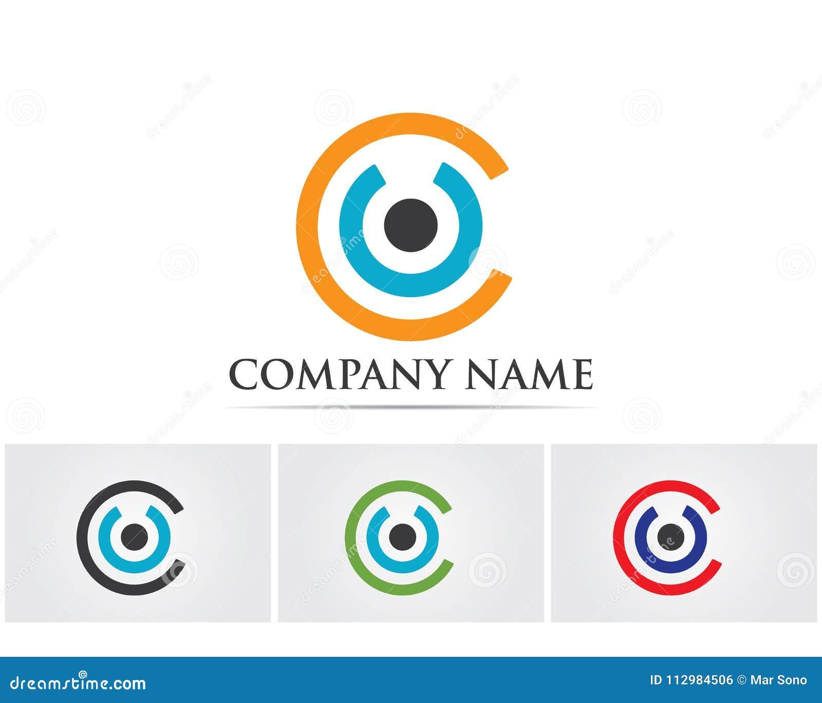 circle logo and symbols Vector.