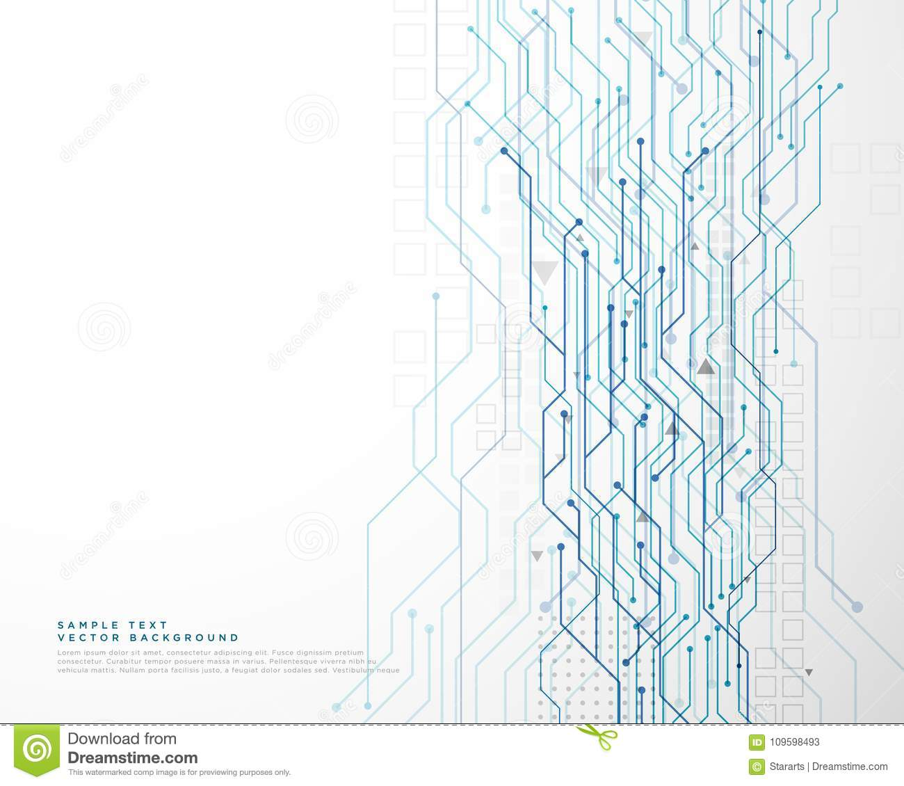 Technology circuit diagram network background