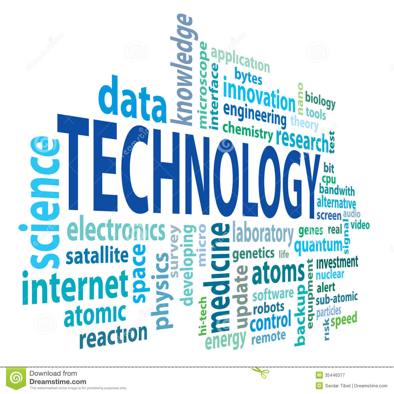 Technology Cloud Royalty Free Stock Photography  Image: 35446377