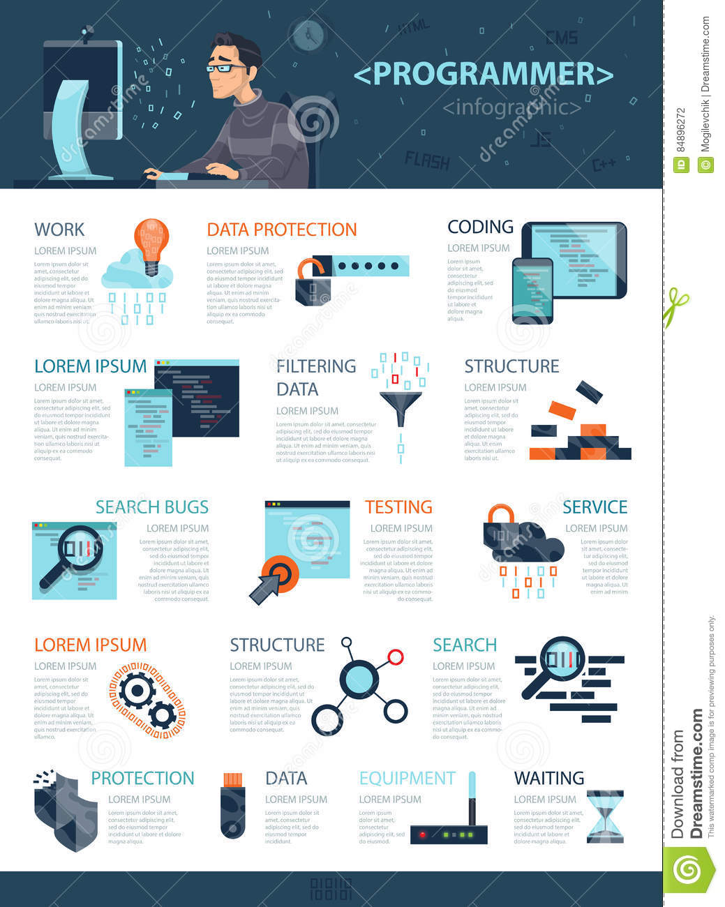 Technology Coding Infographic Concept