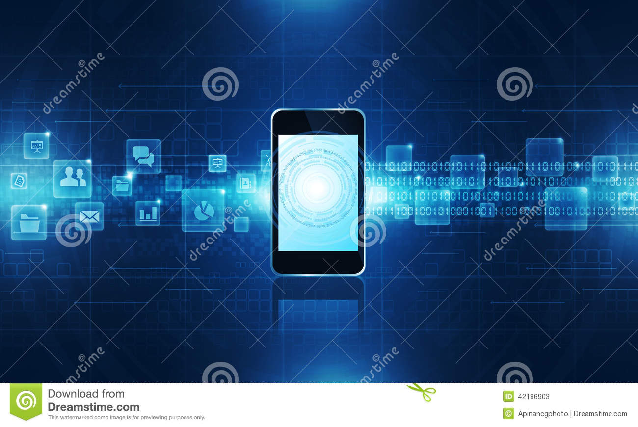 Technology Communication Background Stock Illustration ...