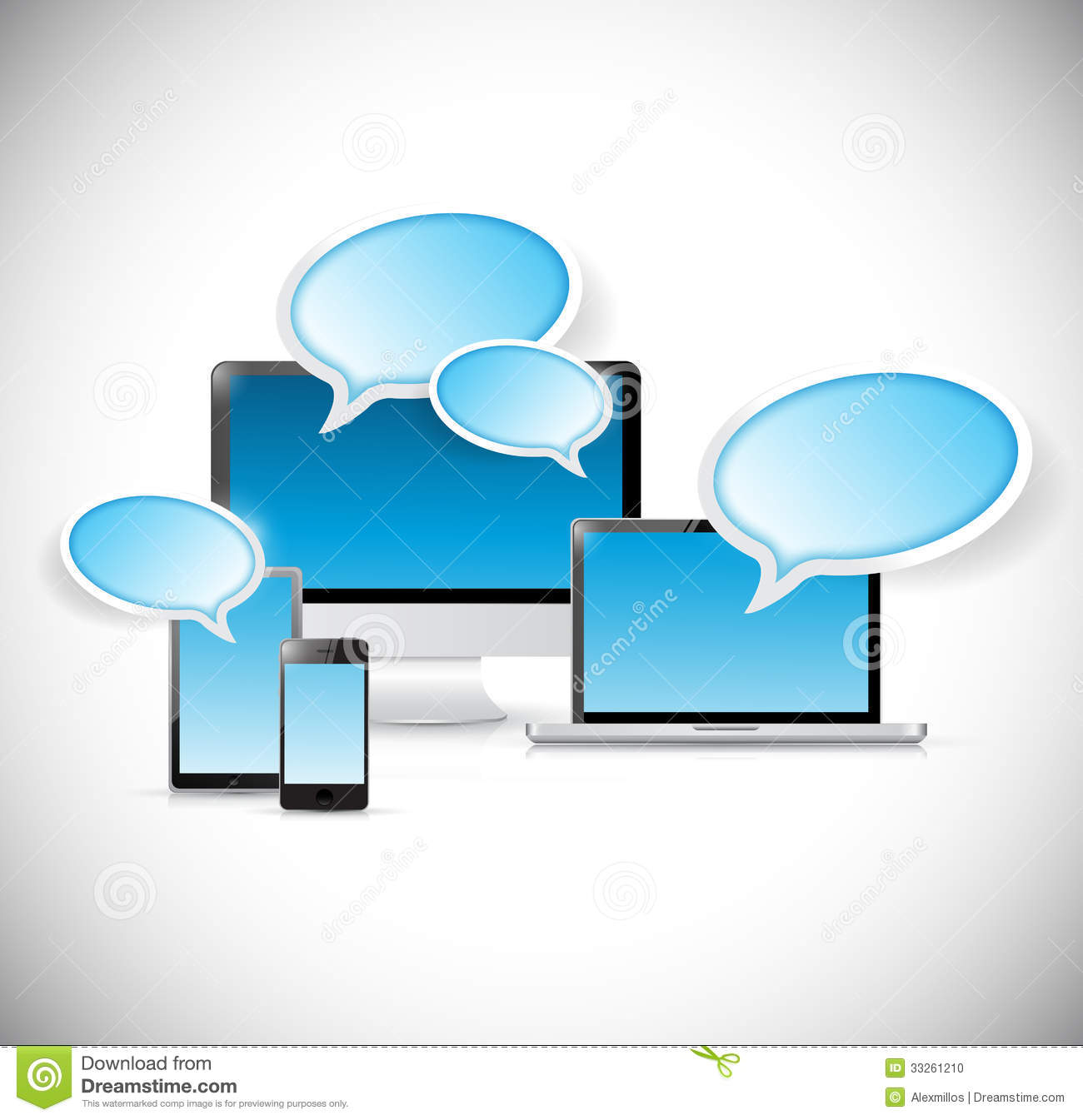 Technology Communication Illustration Design Stock ...