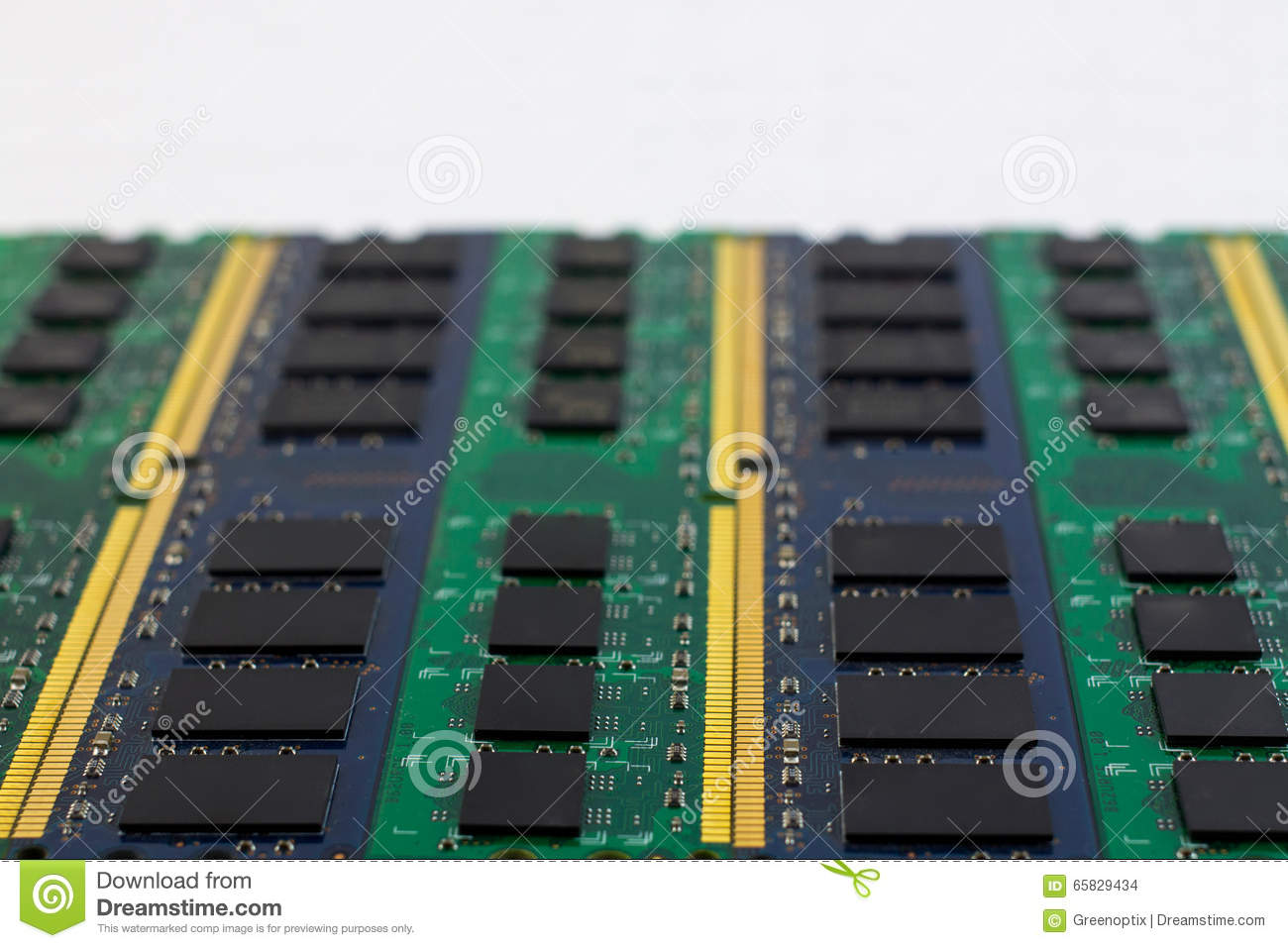 Technology computer component RAM background with copyspace and