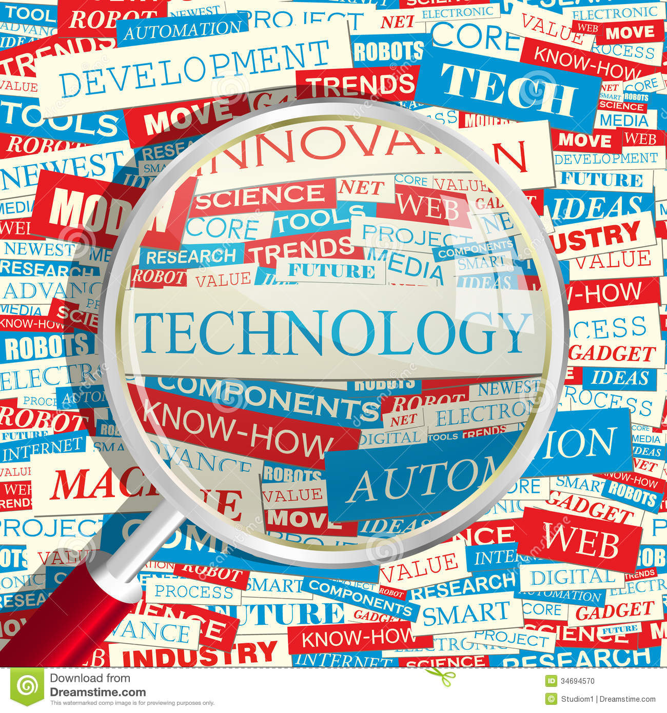 technology word words related collage graphic cloud text tag info concept conceptual