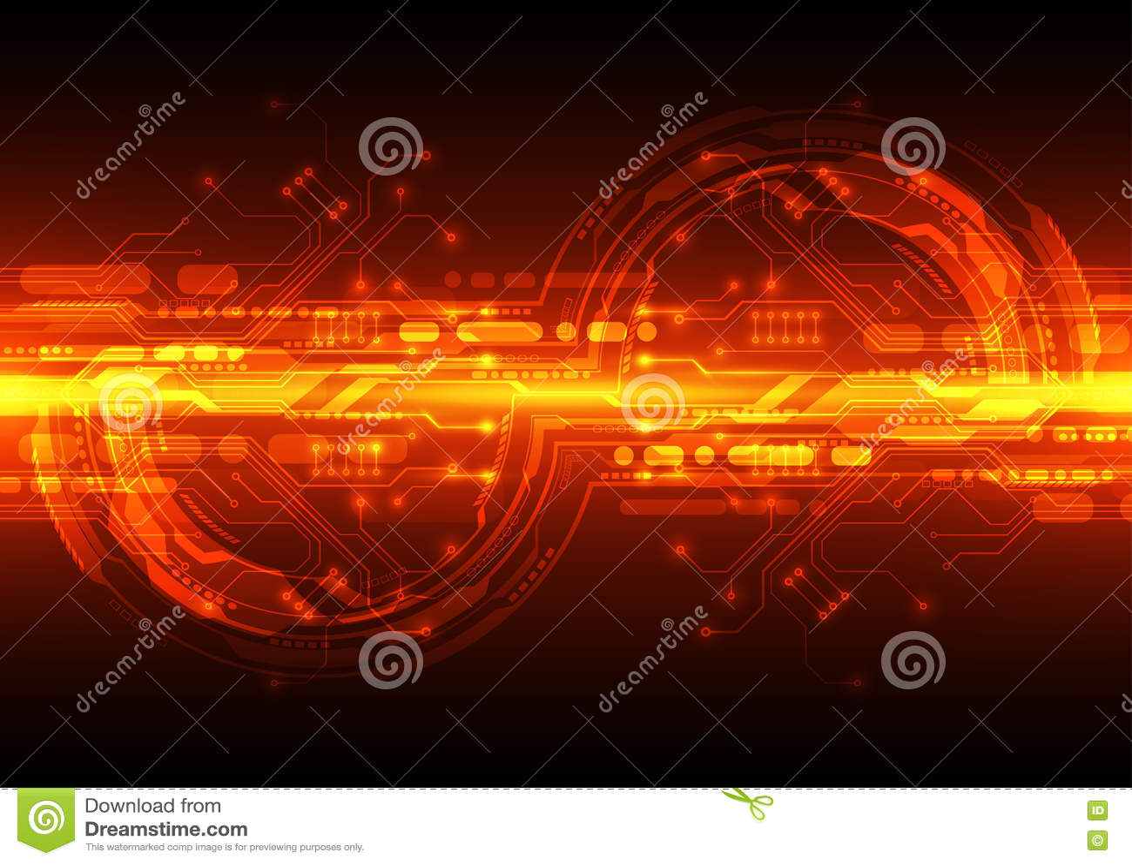 technology futuristic digital  technology circuit board