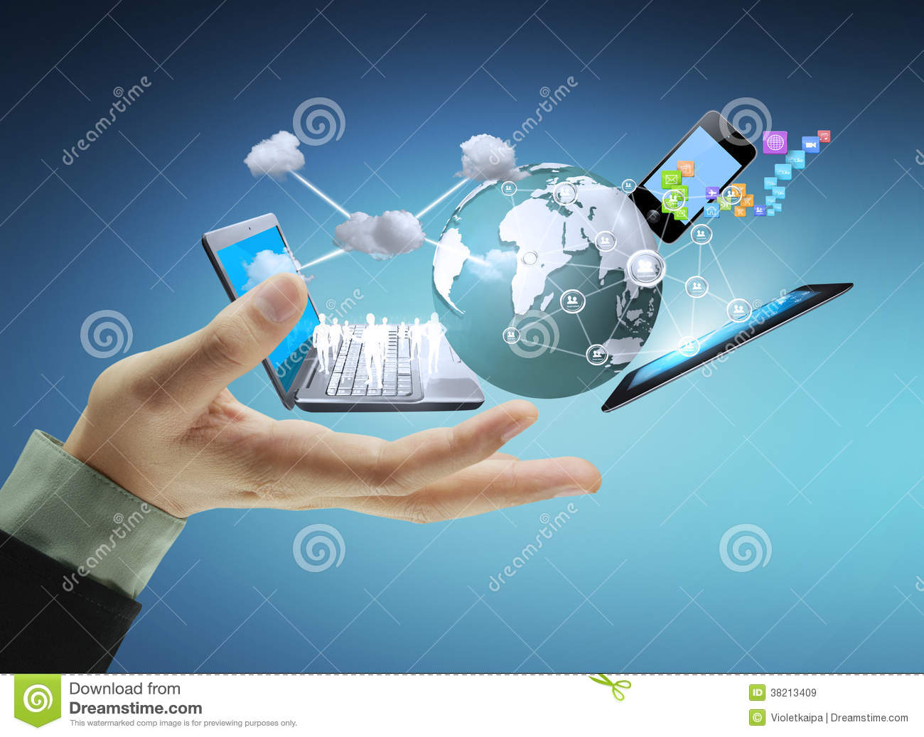 Technology In The Hands Stock Image Image Of Holding