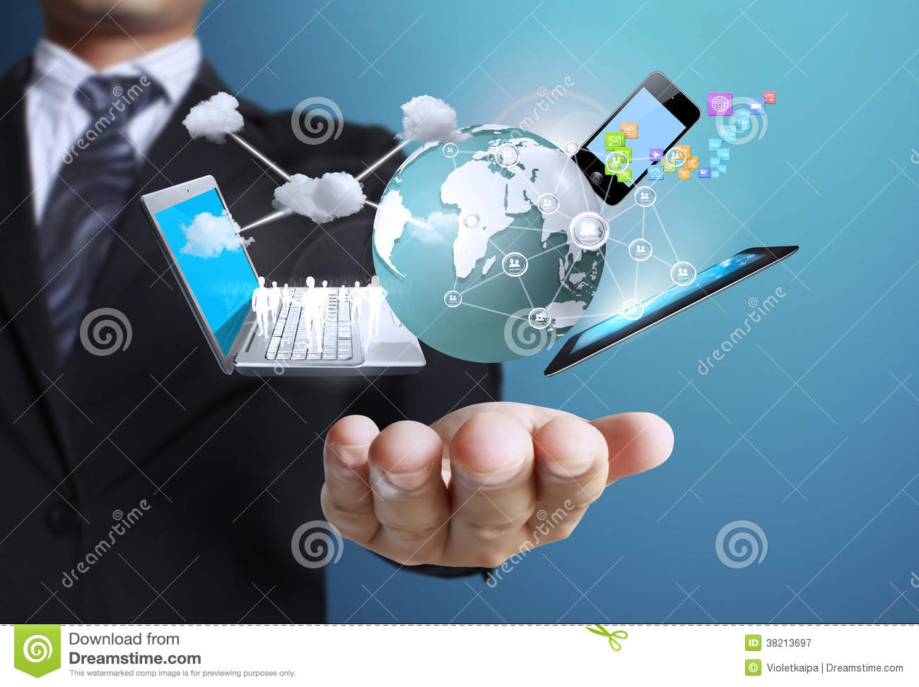 Technology In The Hands Royalty Free Stock Photography