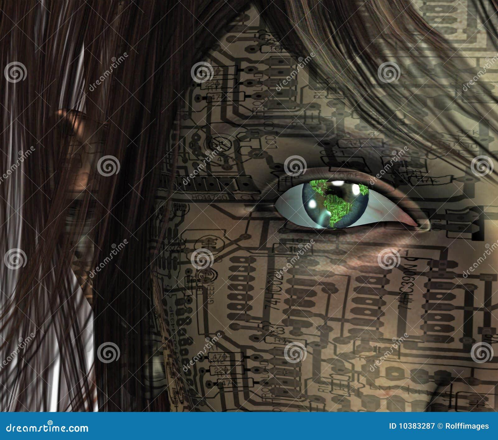 human technology future royalty earth eye dreamstime