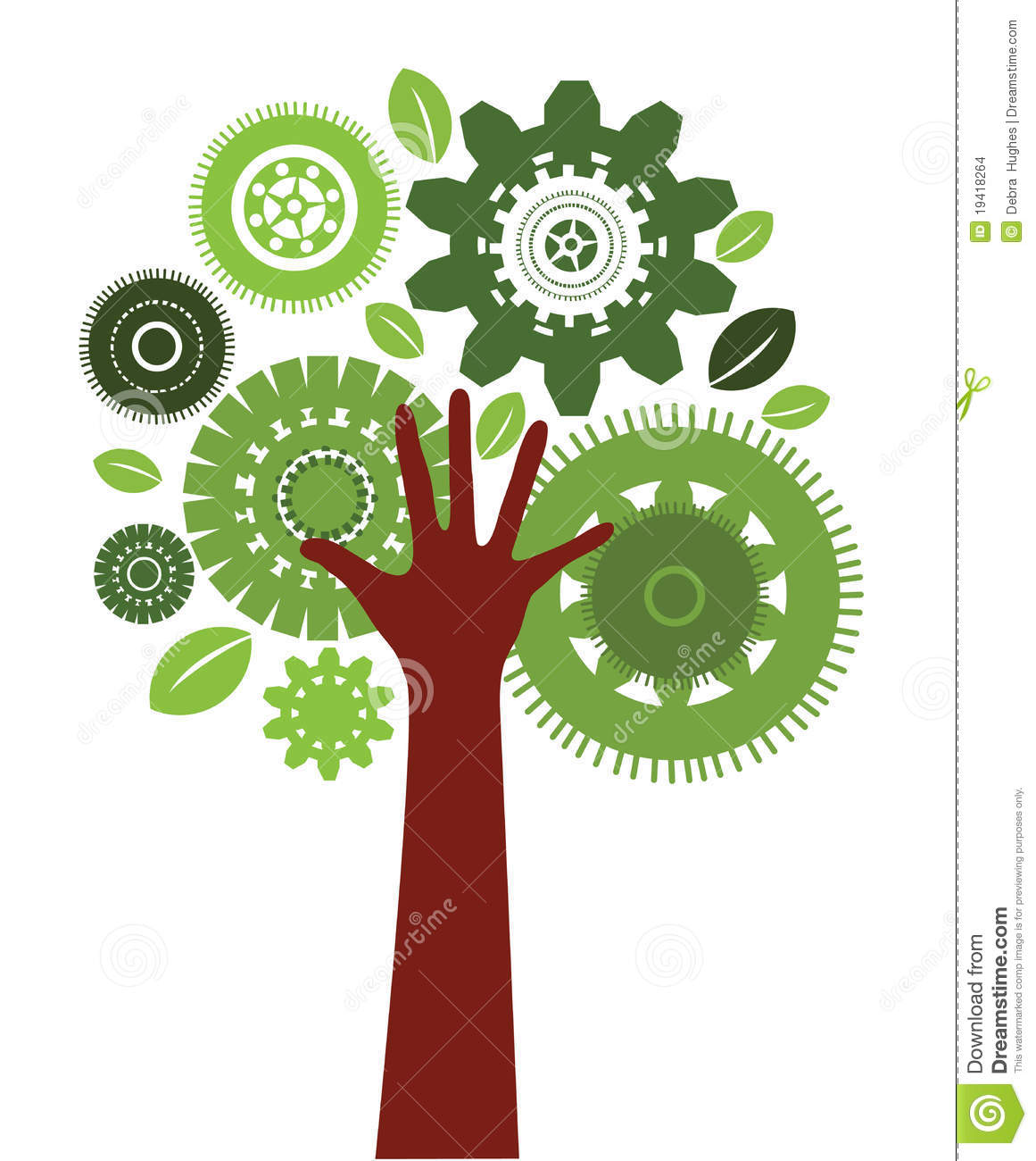 Technology Human Tree Stock Vector Image Of Funky