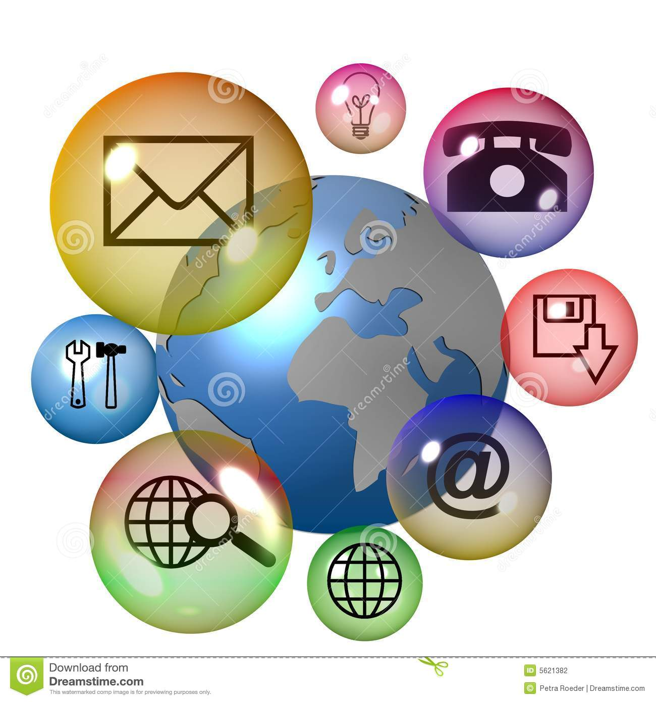 Technology Icon Set Stock Photography - Image: 5621382