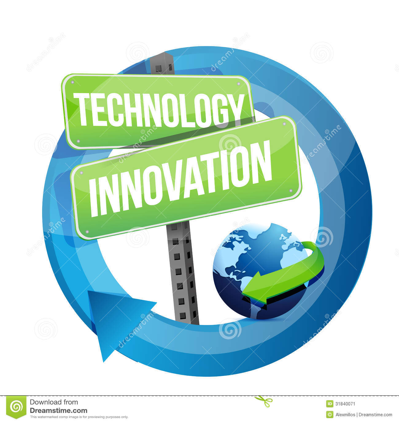 technology sign innovation street illustration information preview drive