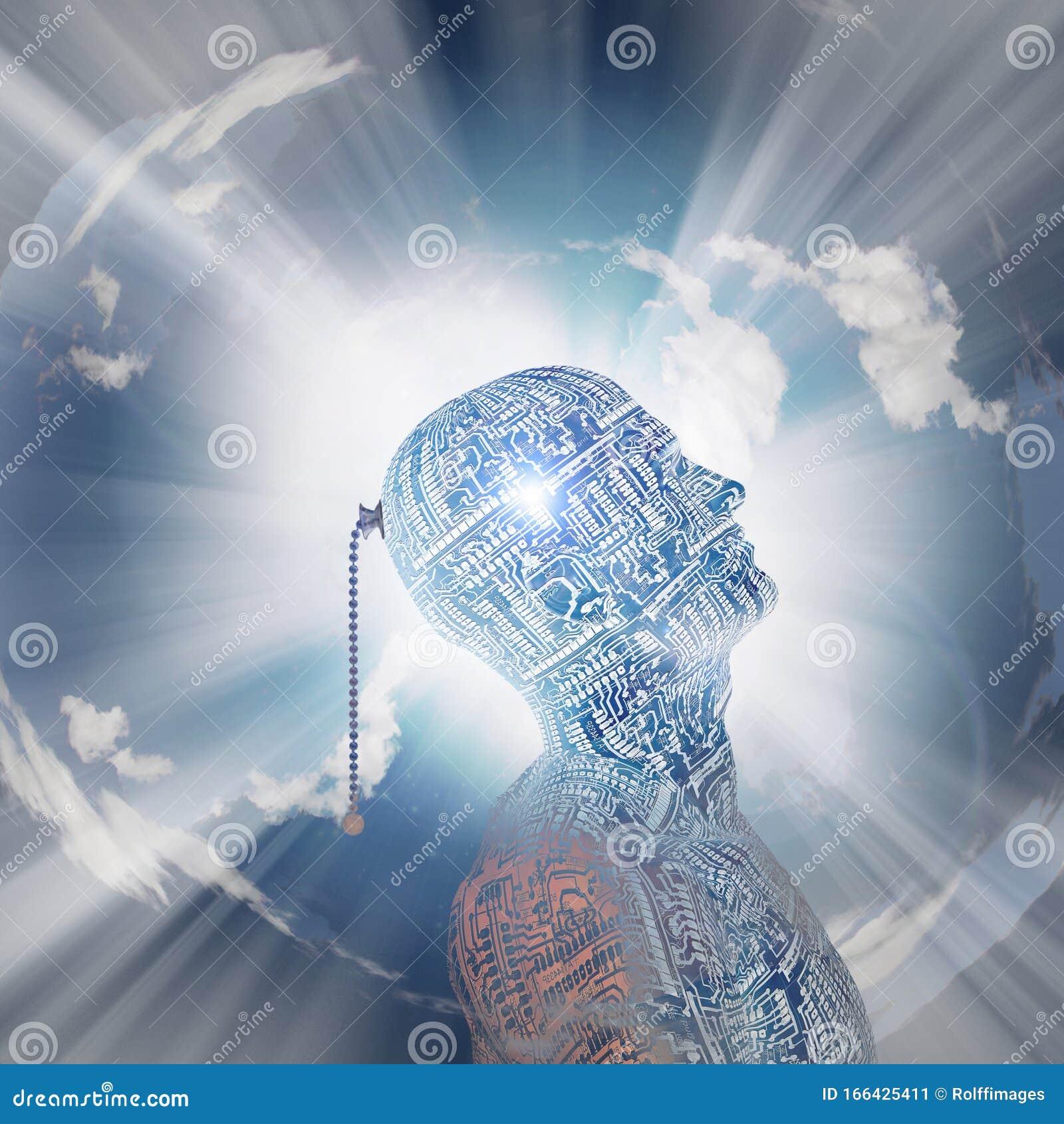 Technology Mind Stock Illustration  Illustration Of