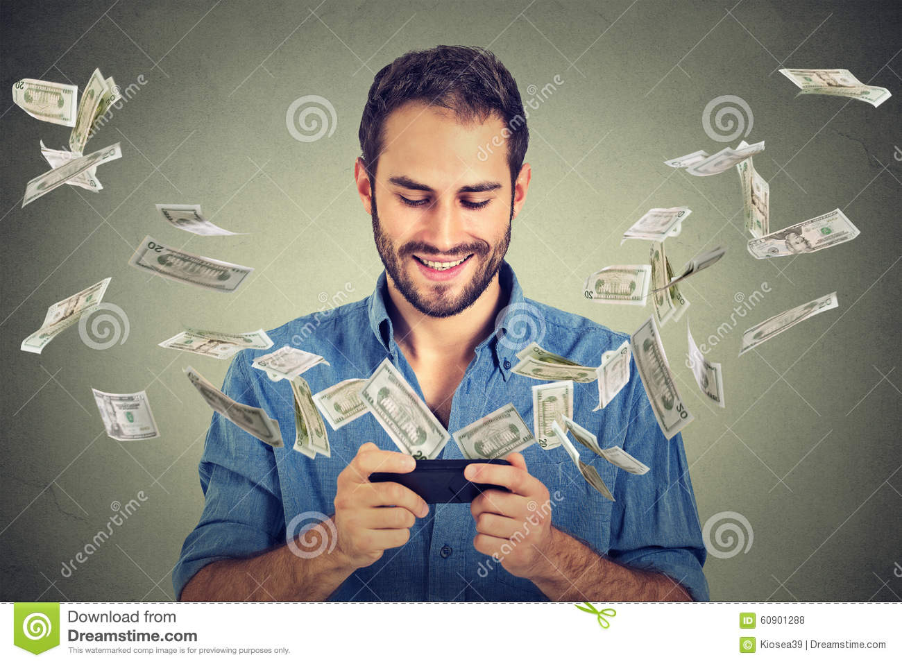 Technology online banking money transfer, e-commerce concept.