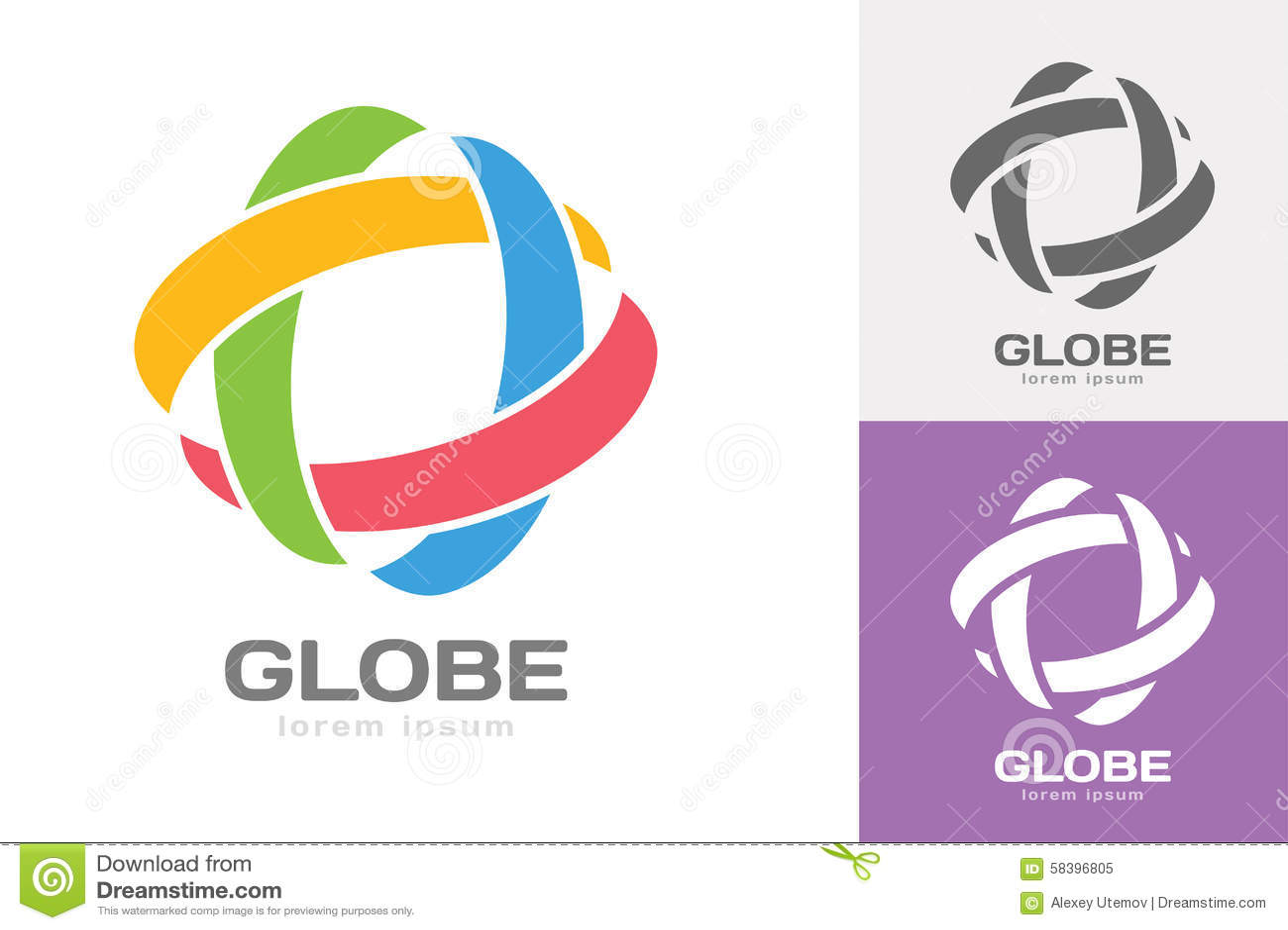 technology orbit web rings logo stock vector image 58396805. Black Bedroom Furniture Sets. Home Design Ideas