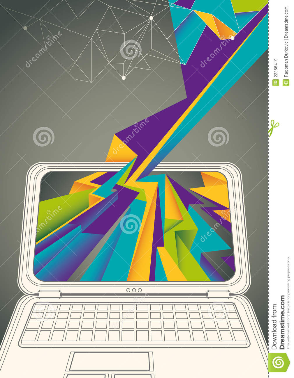 Technology Poster With Laptop. Royalty Free Stock Images - Image ...