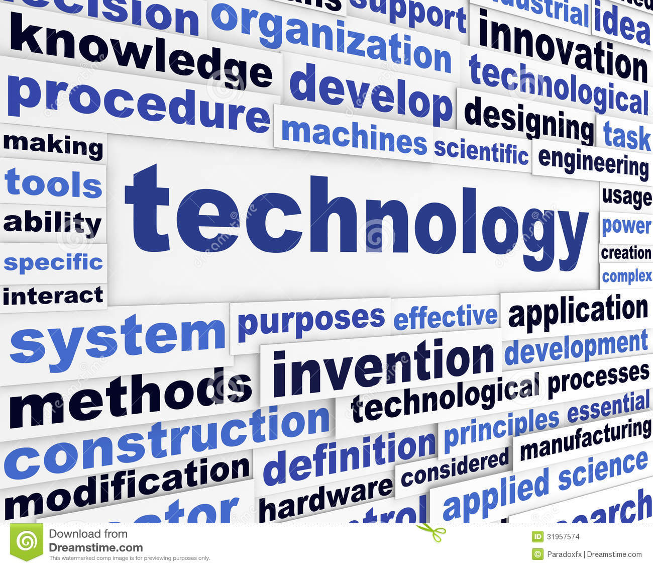 words technology scientific creative background technological message preview