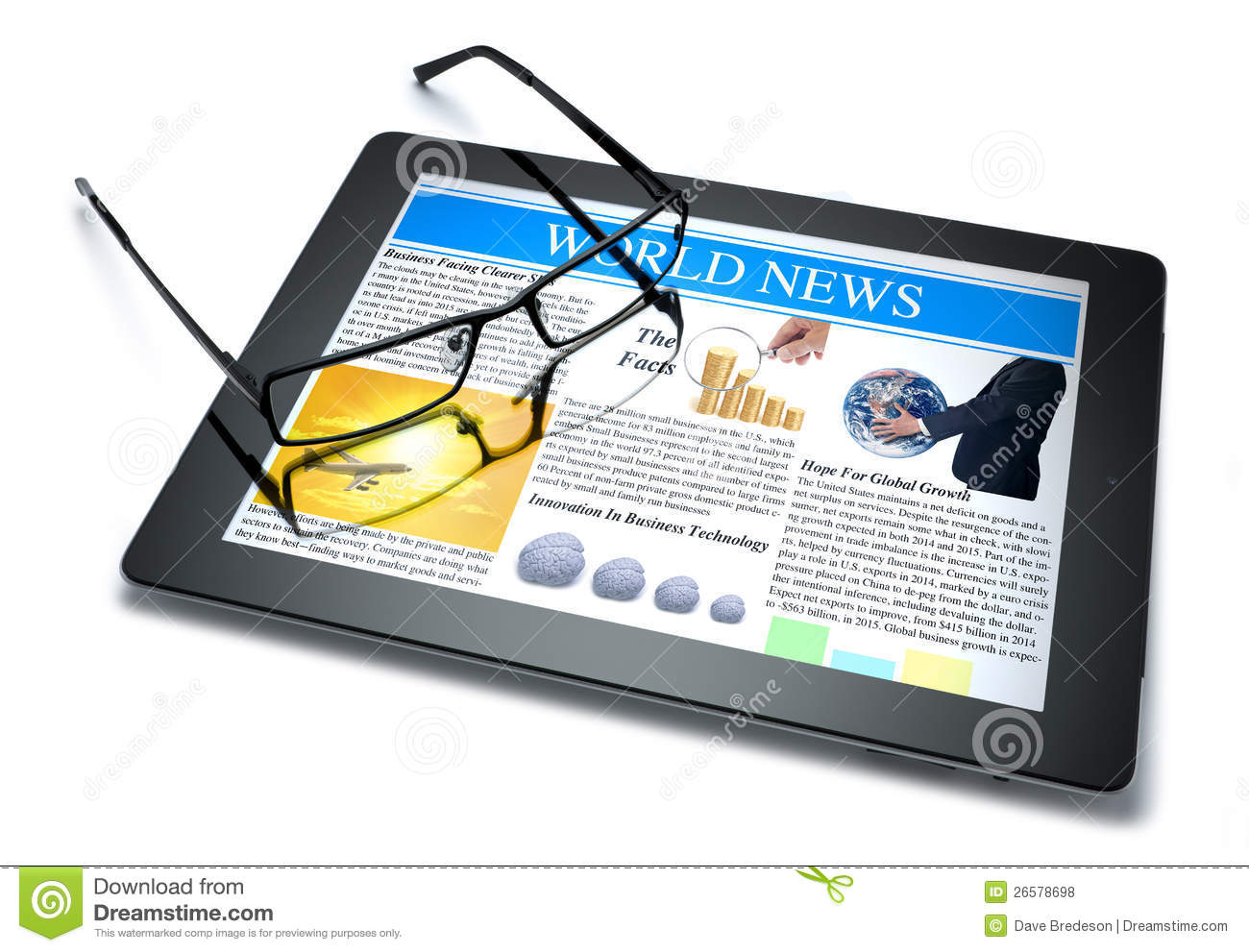 technology tablet online news stock photo 26578698 megapixl