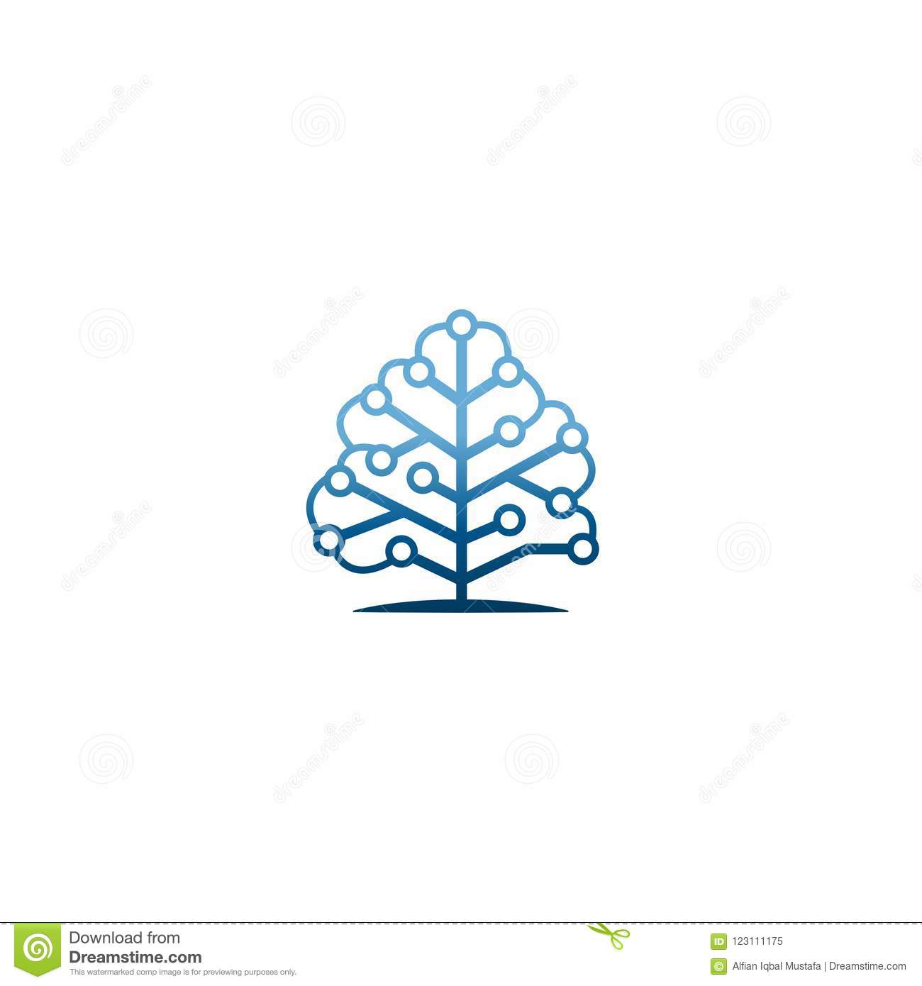 Technology Tree Logo Idea Microcircuit Shape Concept Communication Circuit Board Engineering Emblem Icon