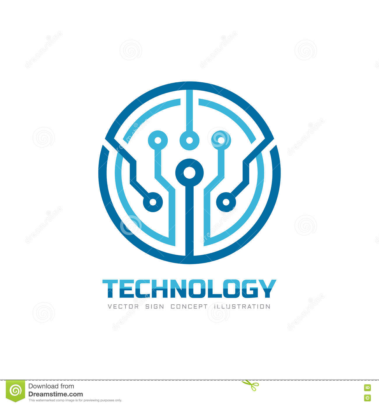 technology vector logo template for corporate identity