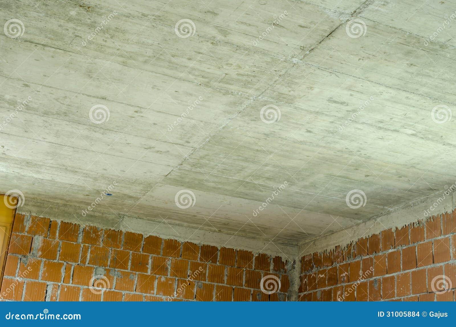 Techo concreto en una casa bajo construcci n imagenes de for Techos de concreto para casas
