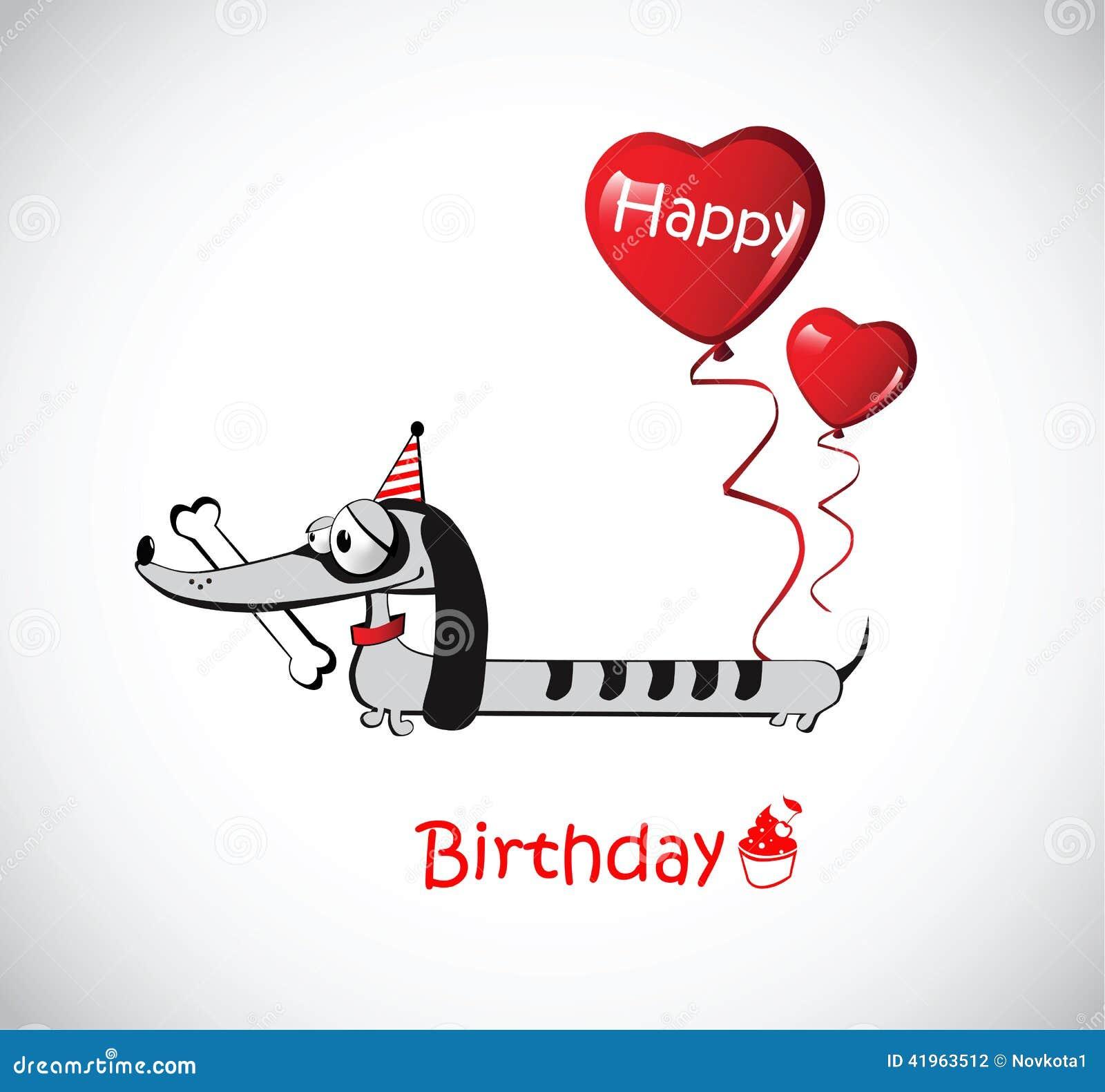 carte anniversaire chien teckel