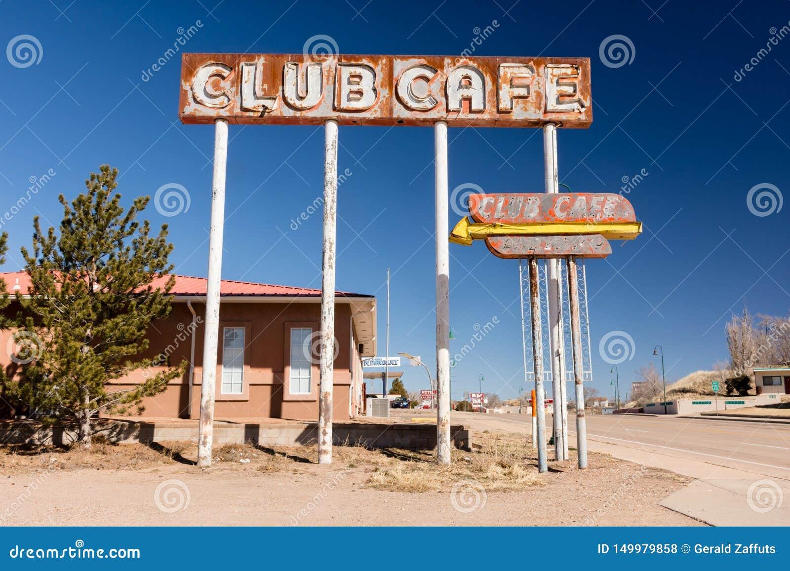 Tecken av klubbakafét