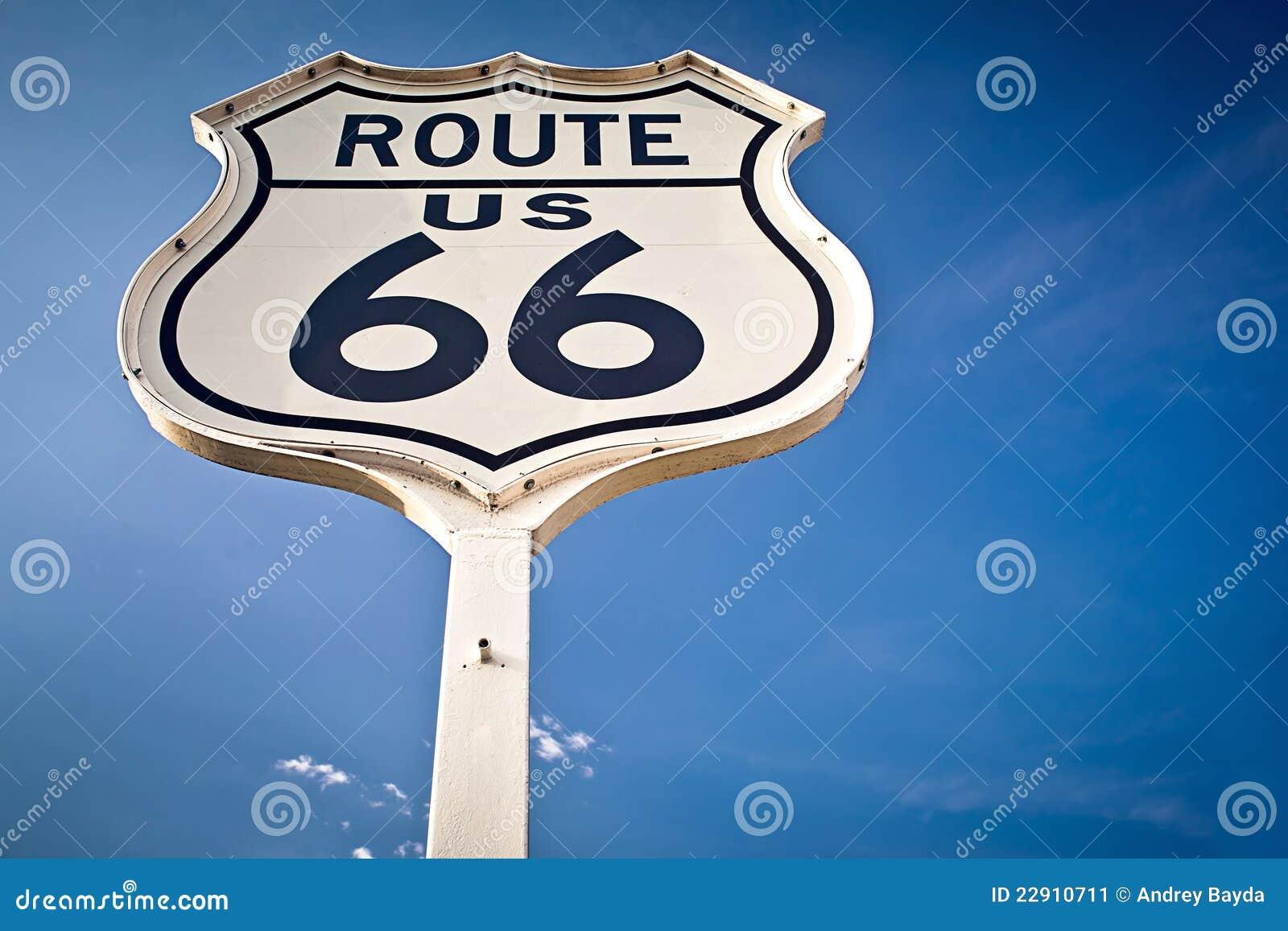 Tecken för 66 route