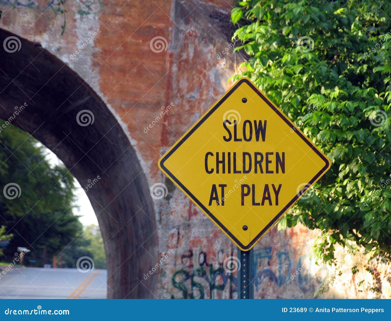 Tecken för barnspelrum