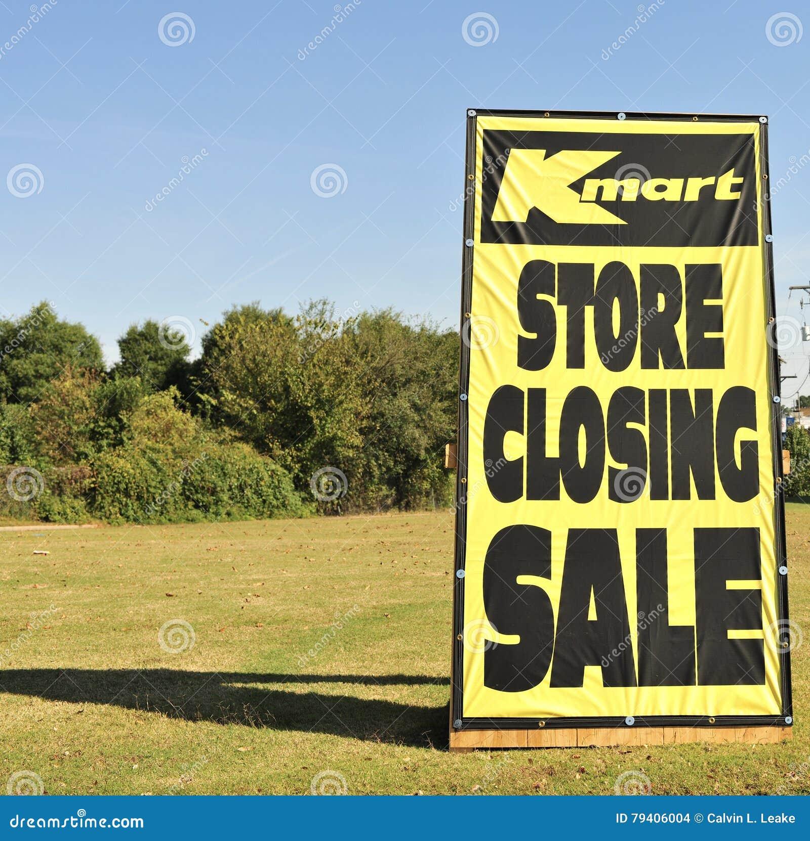 Tecken för Kmart lagerbokslut