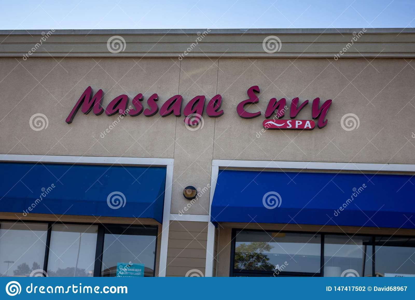 Tecken för massageavundlager