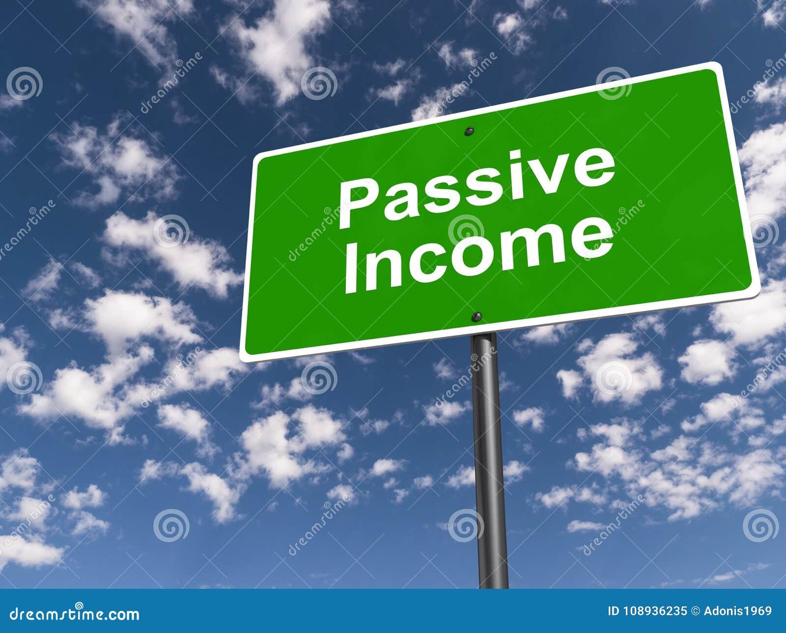 Tecken för passiv inkomst