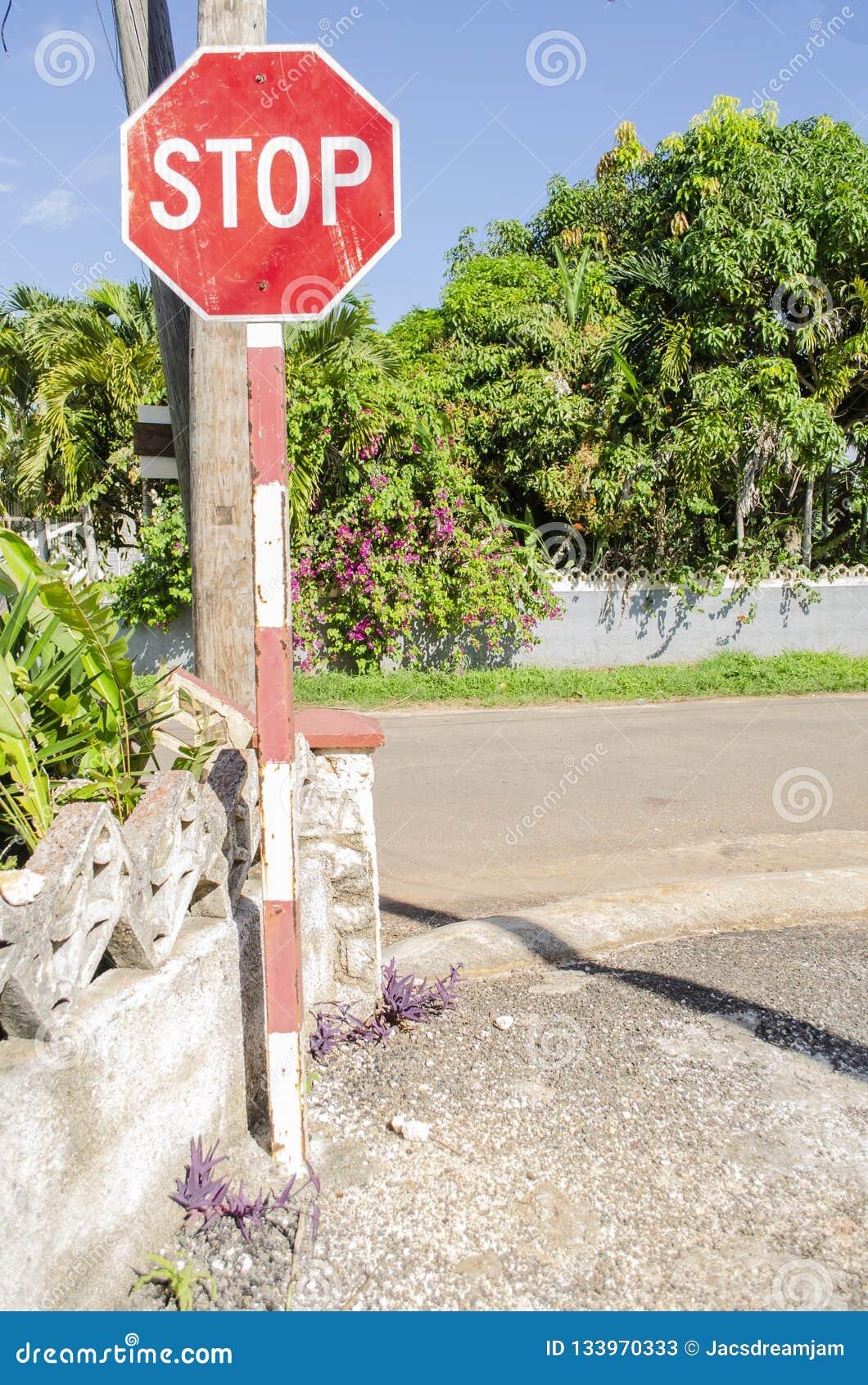 Tecken för stopp för vägföreningspunkt
