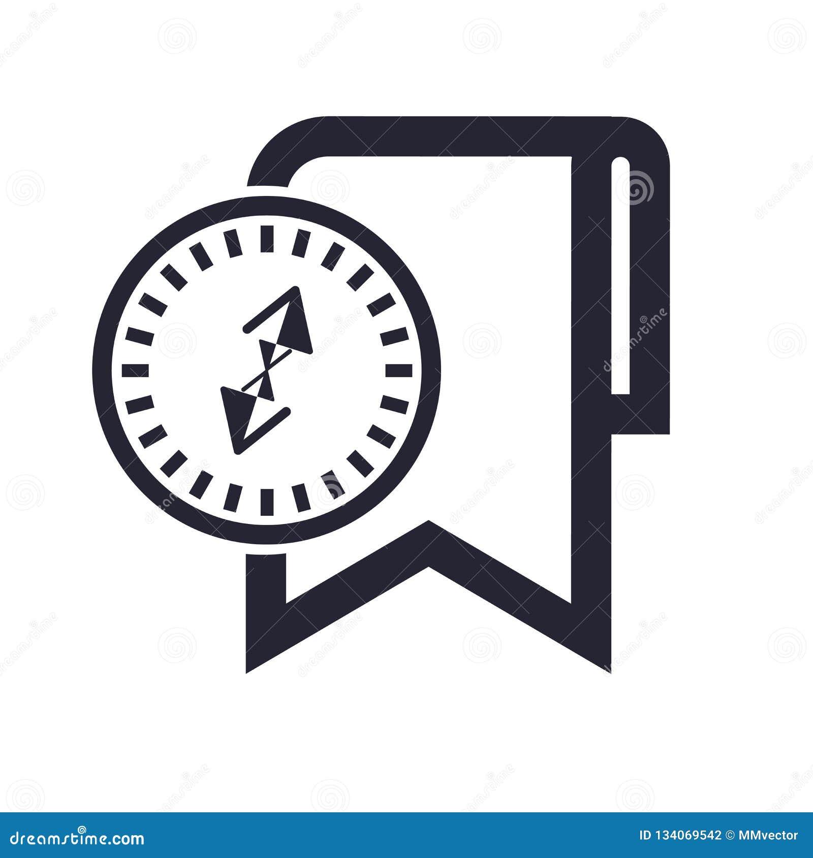 Tecken och symbol för bokmärkesymbolsvektor som isoleras på vit bakgrund, bokmärkelogobegrepp