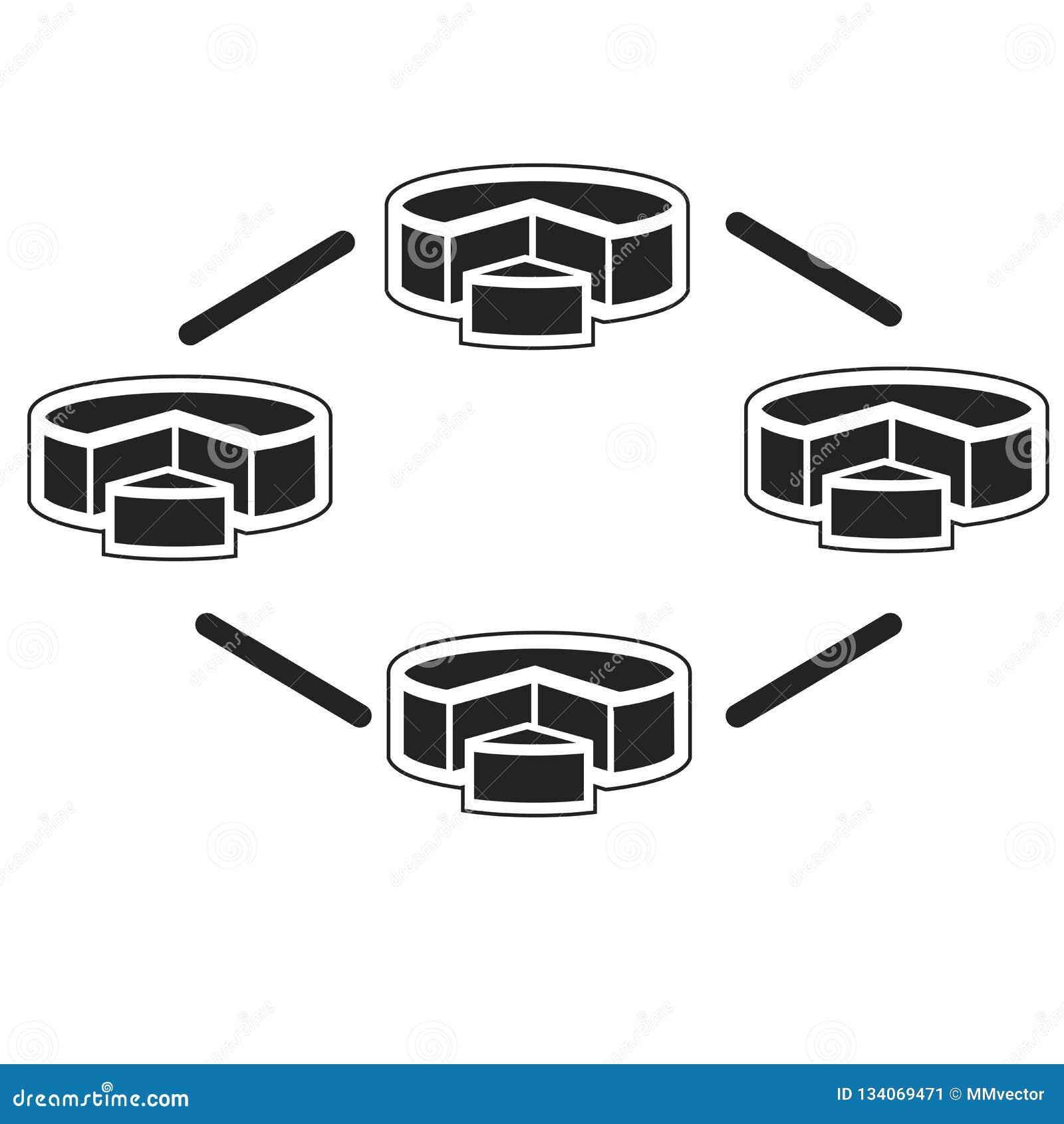 Tecken och symbol för diagramsymbolsvektor som isoleras på vit bakgrund, diagramlogobegrepp