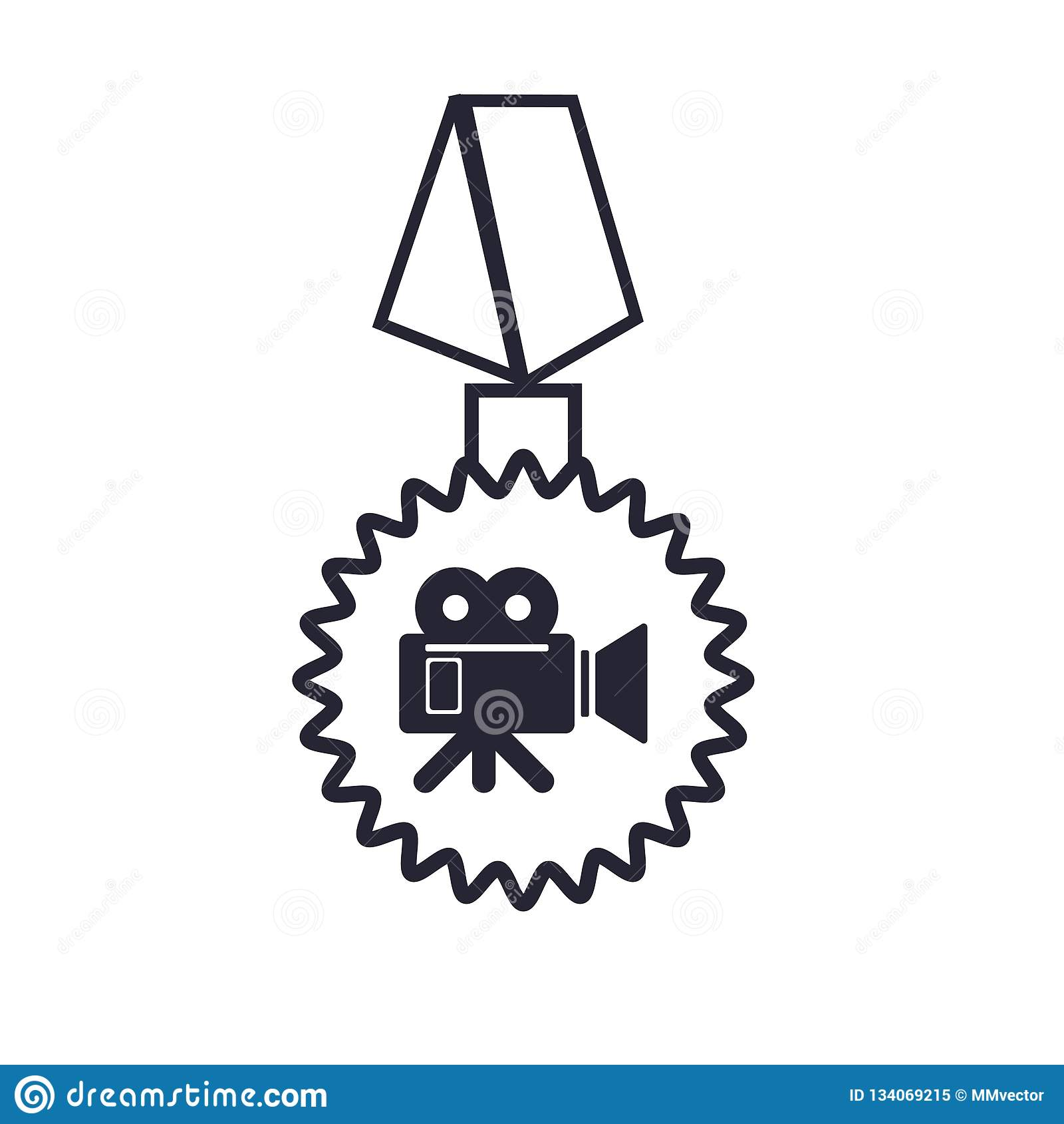 Tecken och symbol för emblemsymbolsvektor som isoleras på vit bakgrund, emblemlogobegrepp