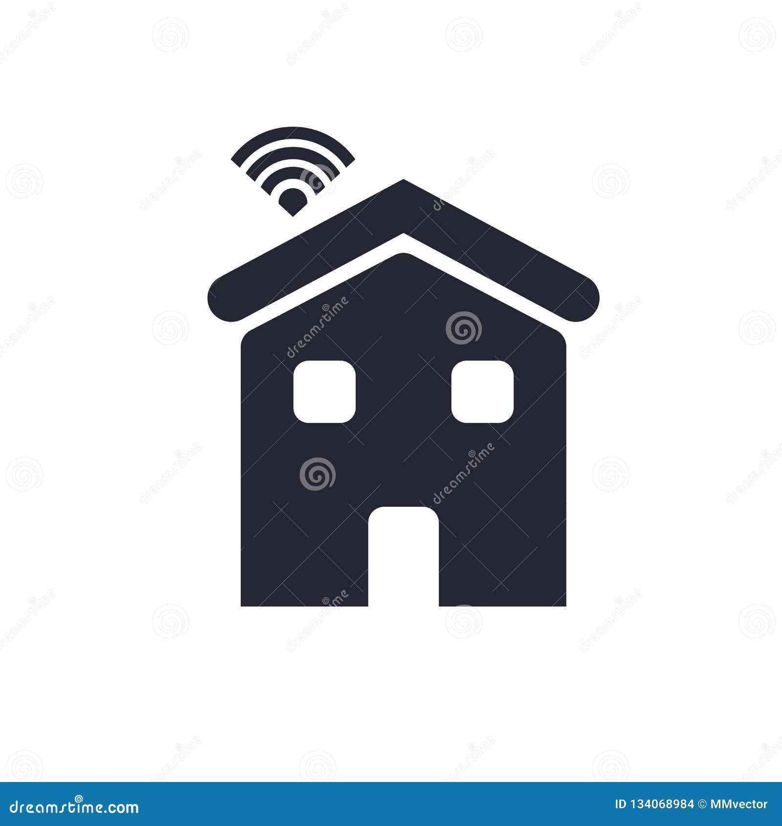 Tecken och symbol för hussymbolsvektor som isoleras på vit bakgrund, huslogobegrepp