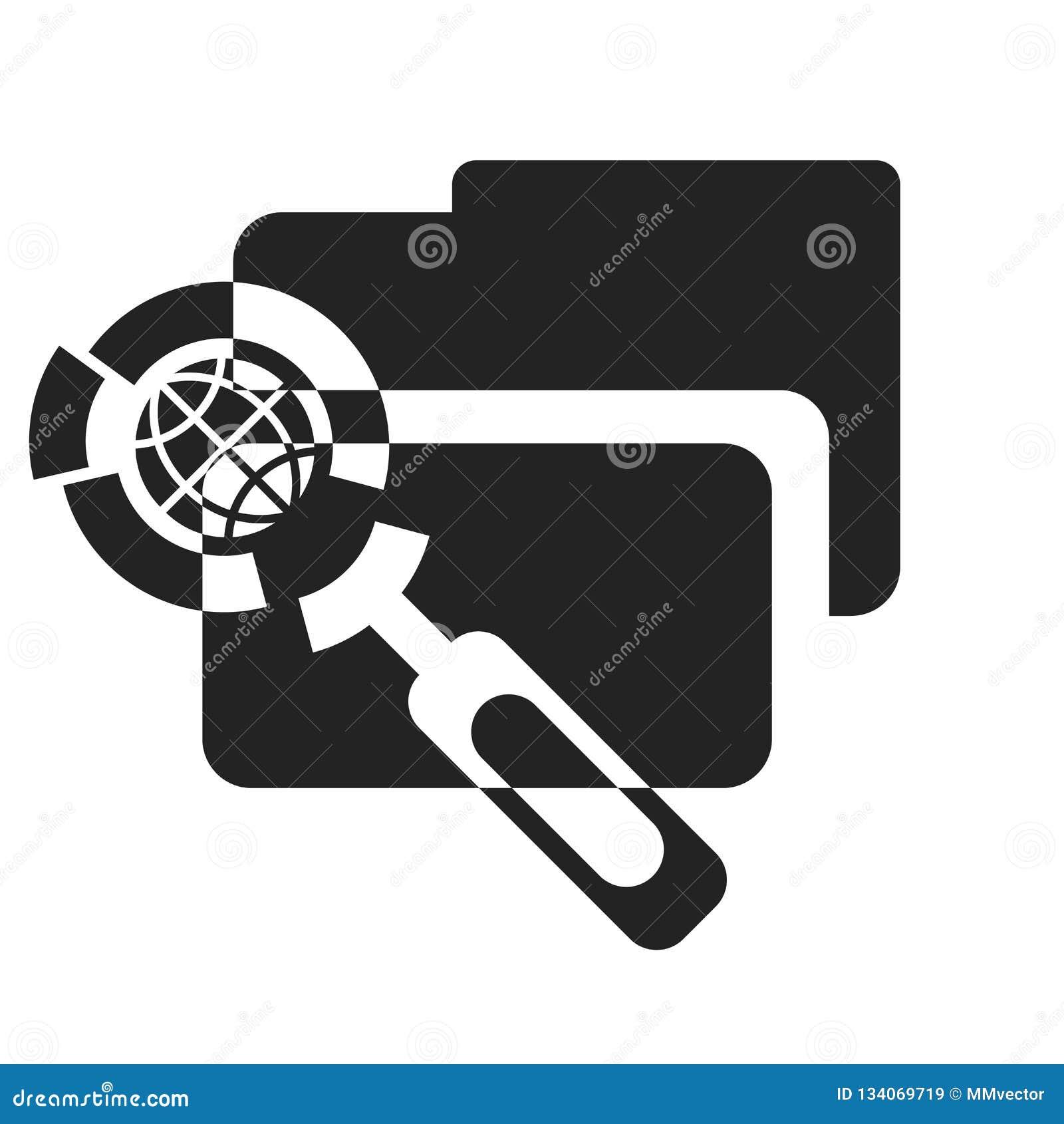 Tecken och symbol för mappsymbolsvektor som isoleras på vit bakgrund, mapplogobegrepp