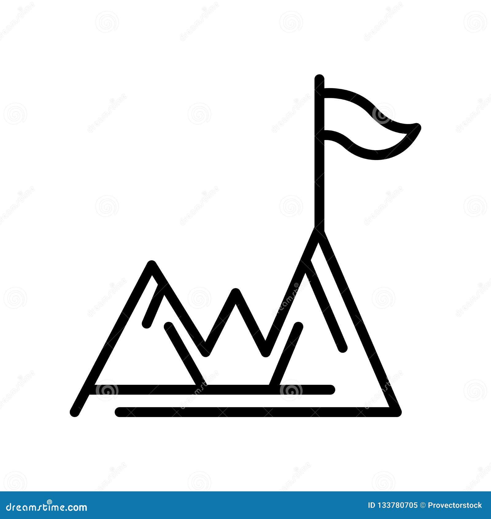 Tecken och symbol för prestationsymbolsvektor som isoleras på vit backgr