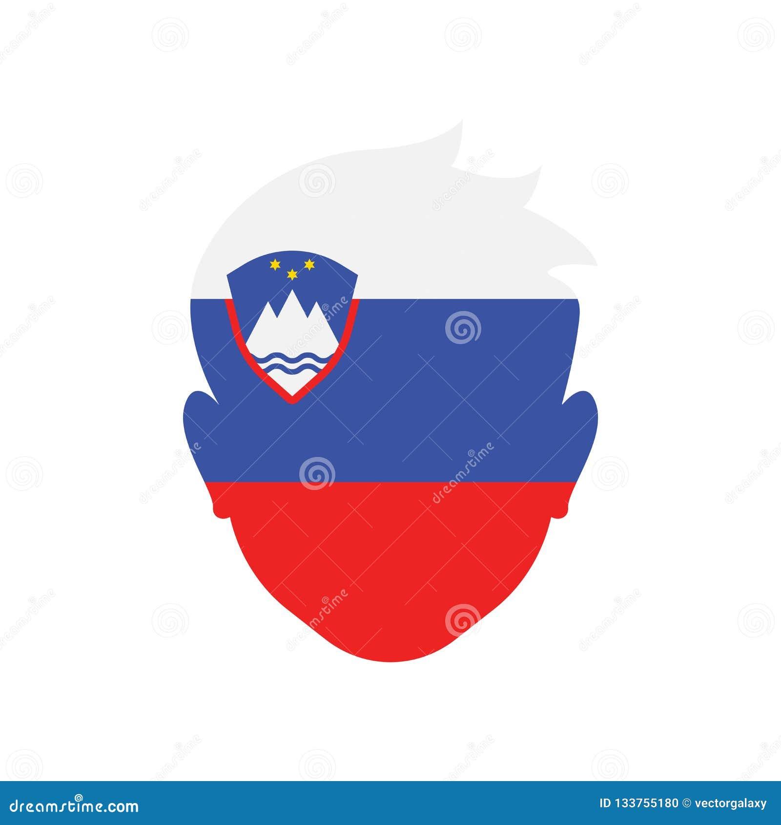 Tecken och symbol för Slovenien symbolsvektor som isoleras på vit backgroun