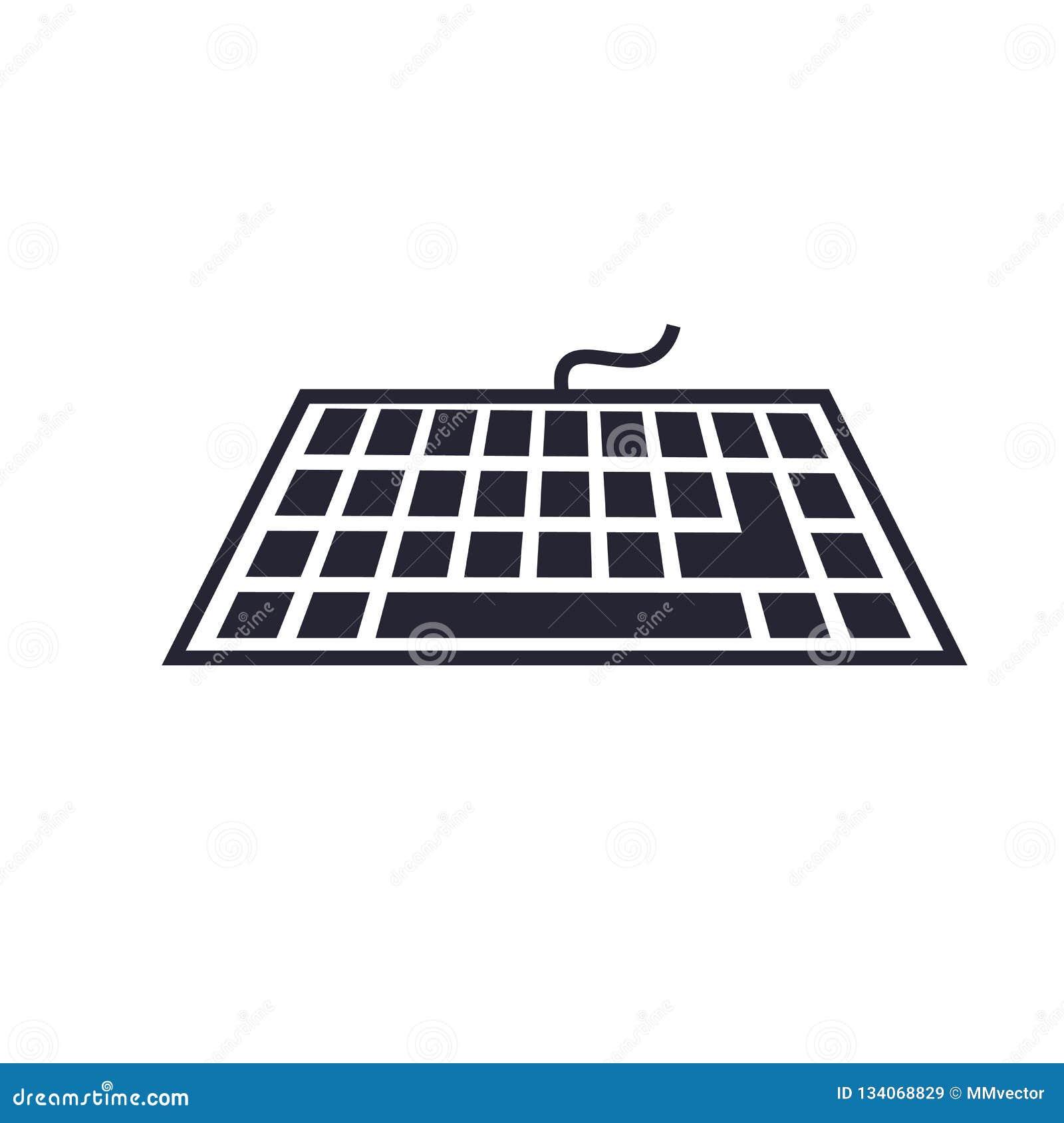 Tecken och symbol för tangentbordsymbolsvektor som isoleras på vit bakgrund, tangentbordlogobegrepp