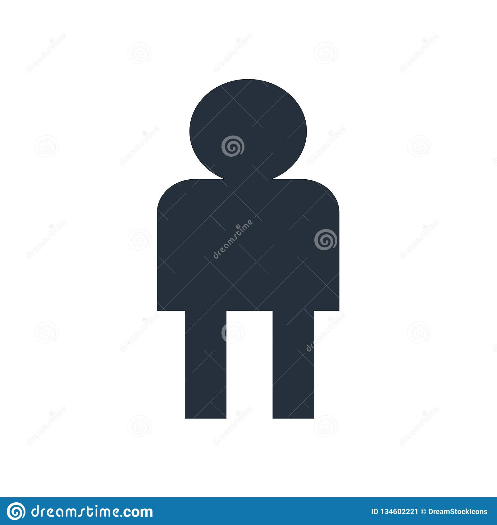 Tecken och symbol för vektor för användareAvatarsymbol som isoleras på vit bakgrund, begrepp för användareAvatarlogo