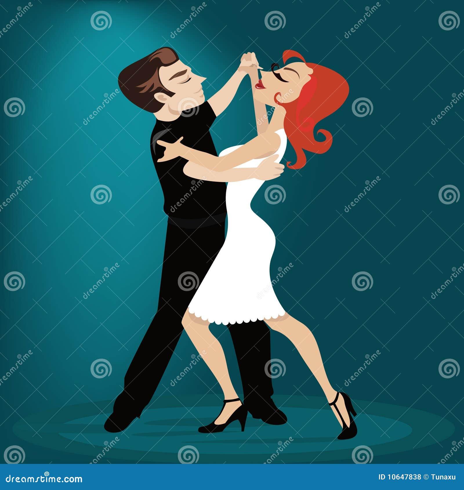 Tecken som dansar tango