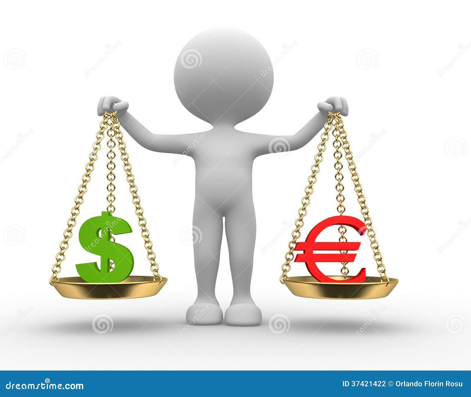 Teckendollar och euro