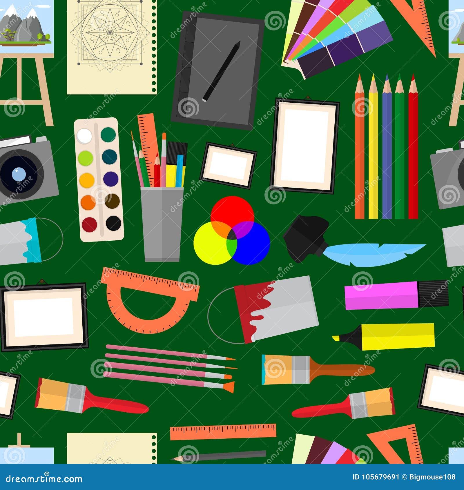 Tecknad film Art Seamless Pattern Background vektor