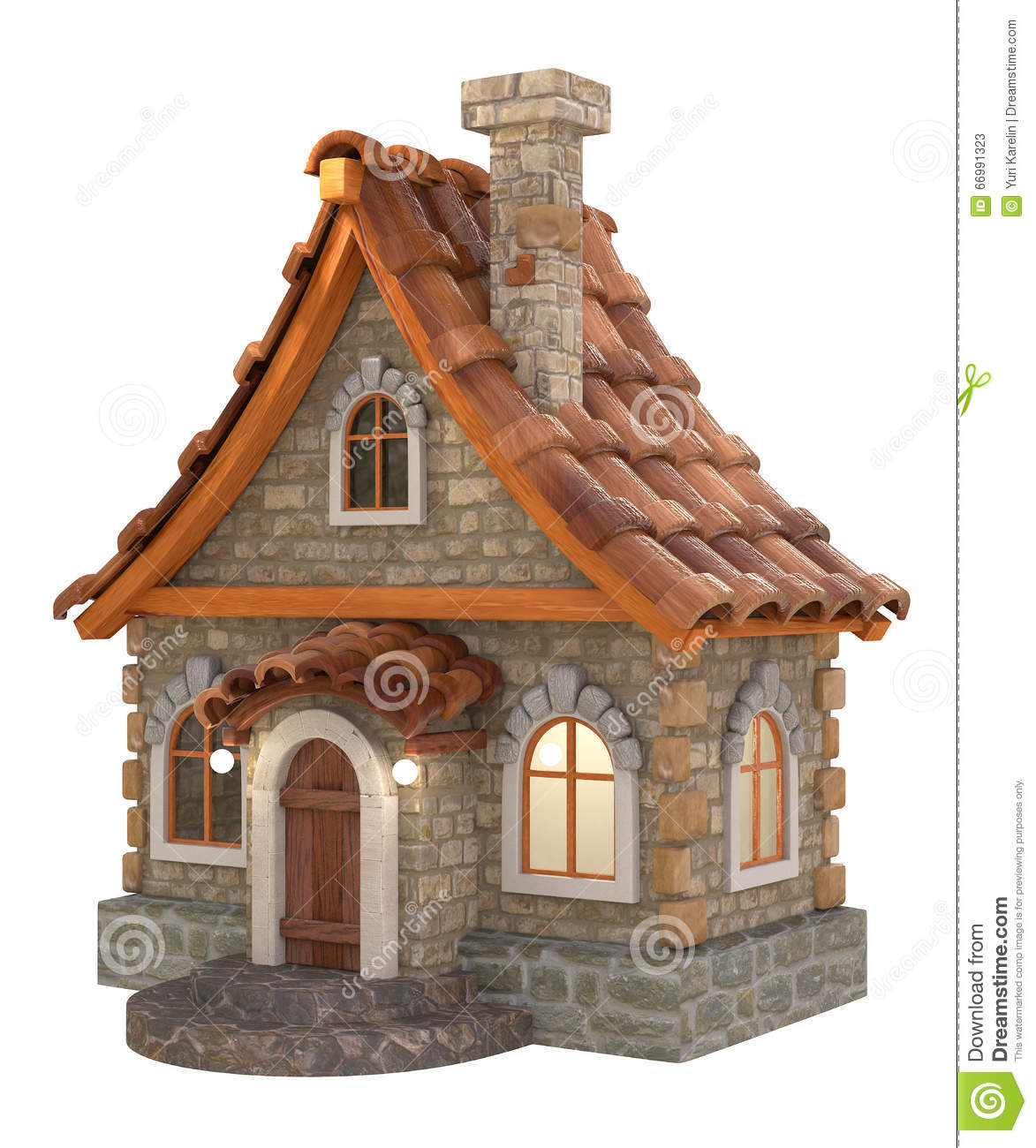 Tecknad film f r hus 3d stock illustrationer bild 66991323 for Costi di costruzione casa di mattoni