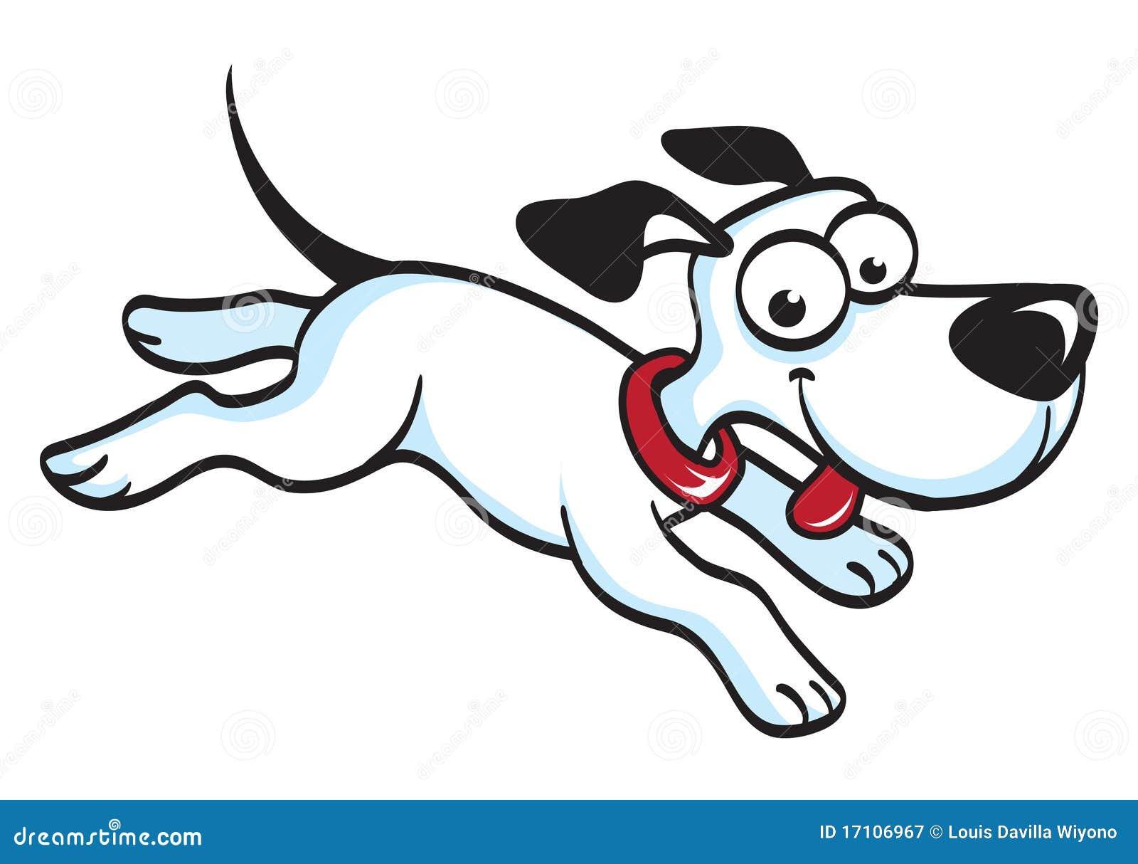 Tecknad film för Running hund