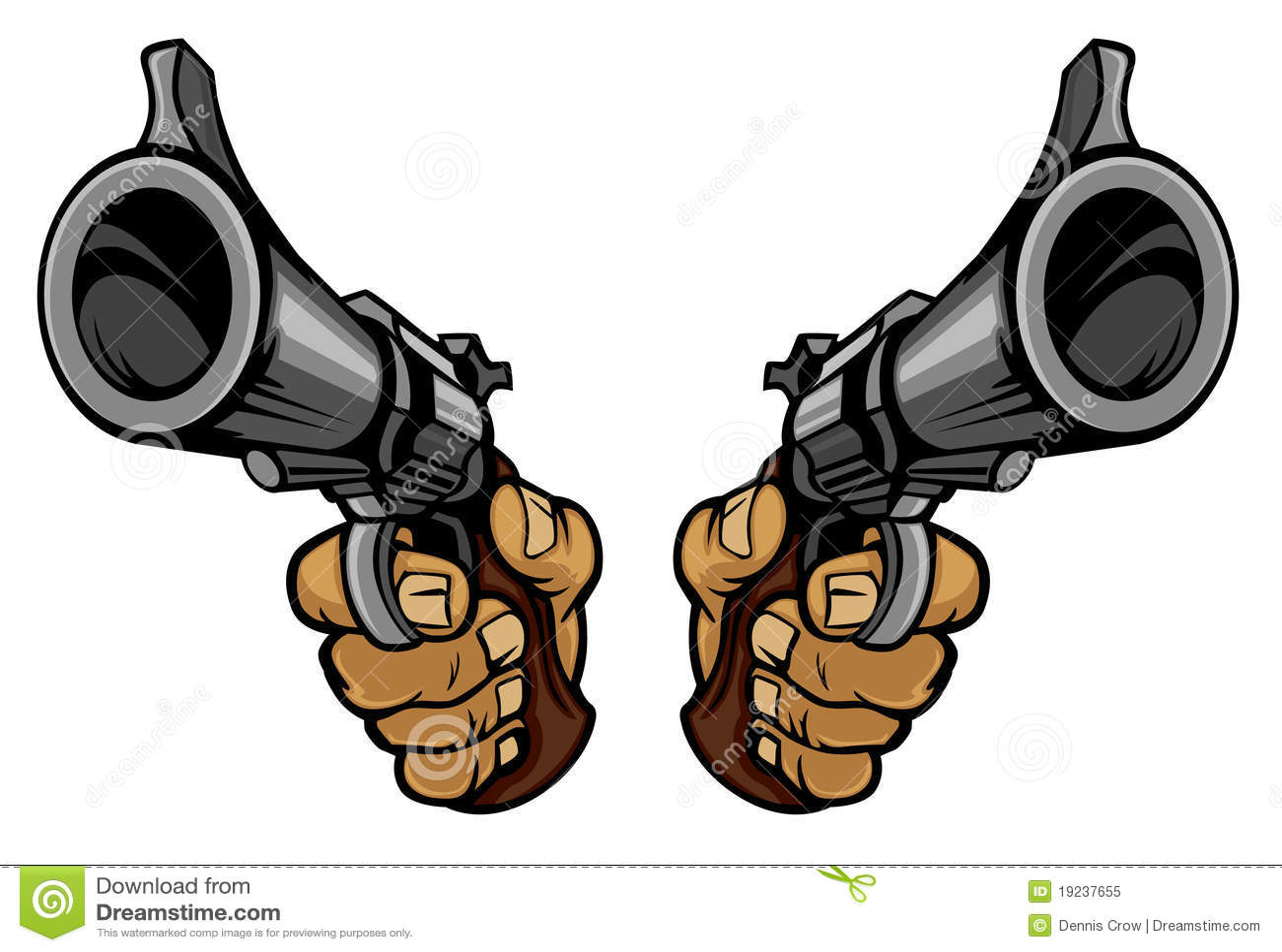 Tecknad film guns att rymma för händer