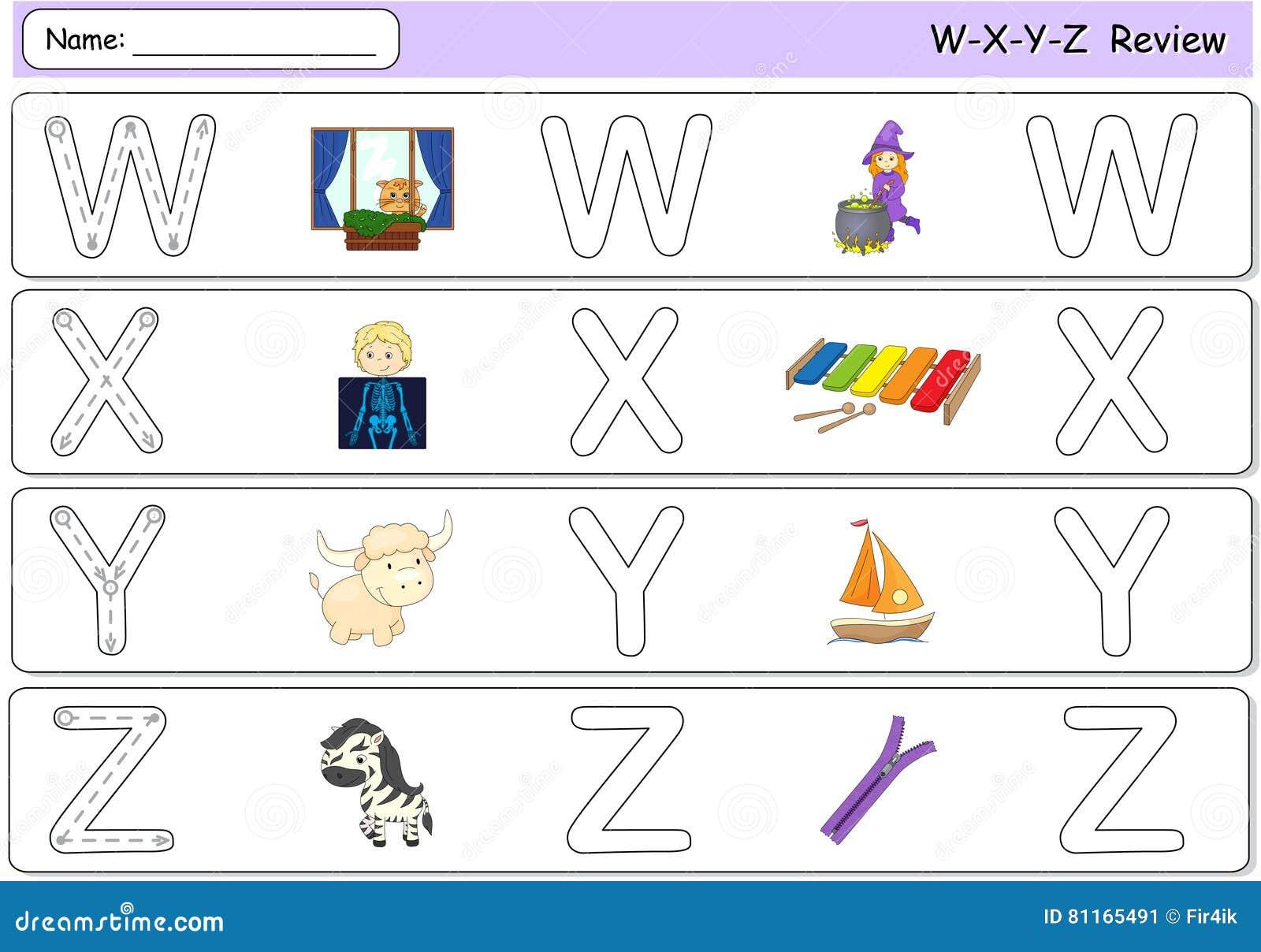 Tecknad filmhäxa, fönster, röntgenstrålepojke, xylofon, yak, yacht, sebra a